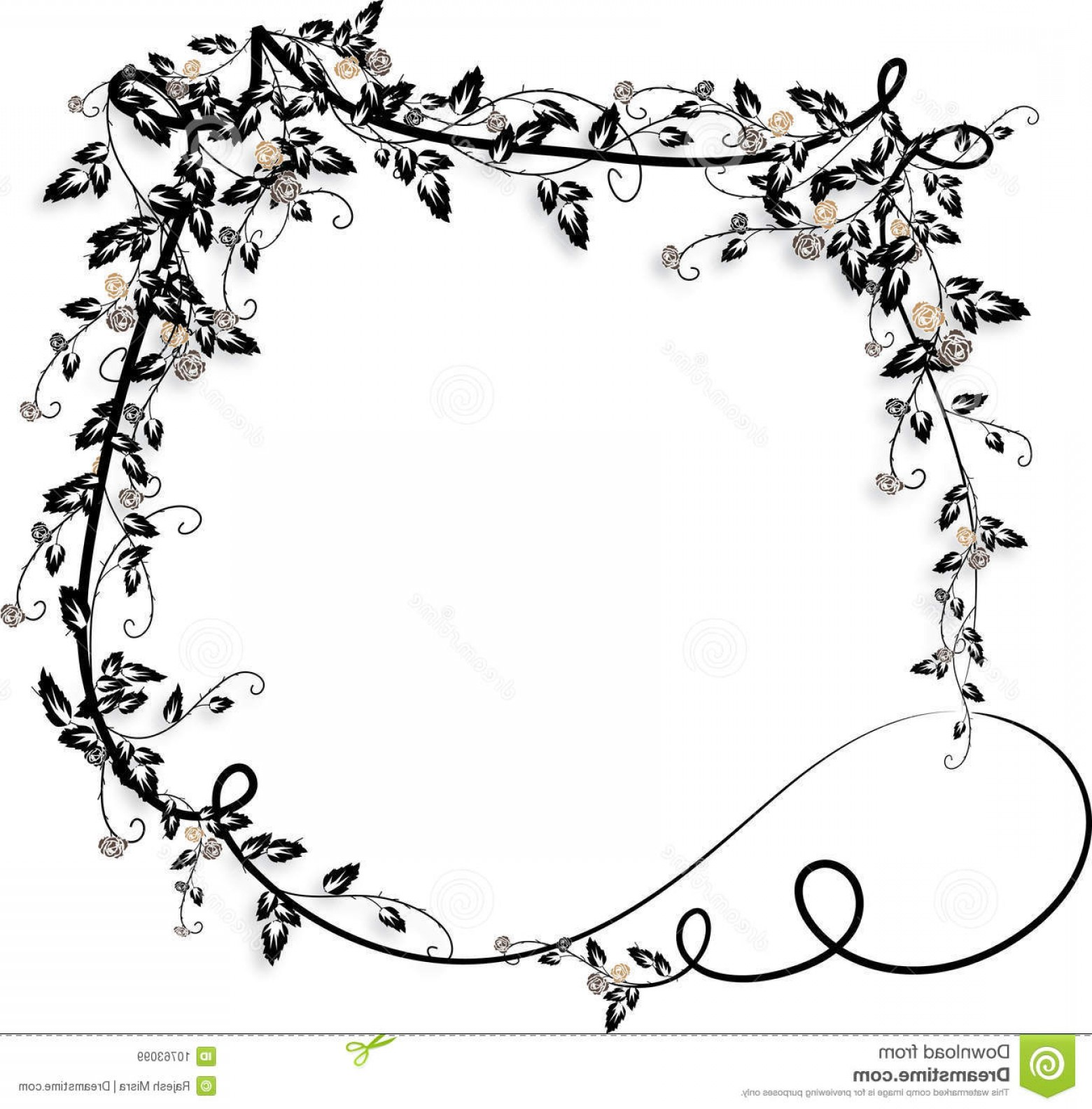 Vine Vector Graphics: Royalty Free Stock Images Rose Vines Frame Image