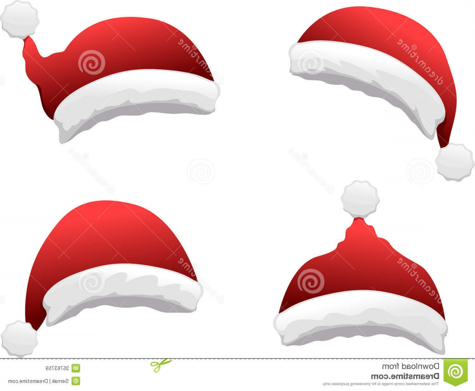 Santa Hat Vector Logo: Royalty Free Stock Images Santa Hat Set Vector Illustration Separate Layers Easy Editing Image