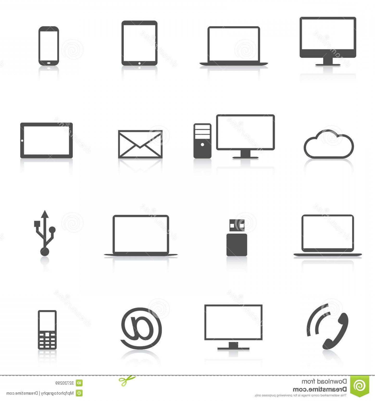 Computer Vector Icon Flat: Royalty Free Stock Images Set Modern Computer Icons Isolation Vector Electronic Tablets Computers Phone Others Image