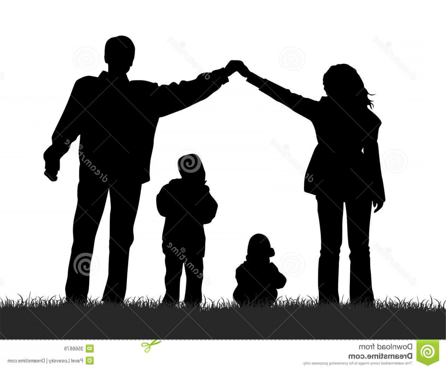 Family Silhouette Vector Art: Royalty Free Stock Images Silhouette Family Image