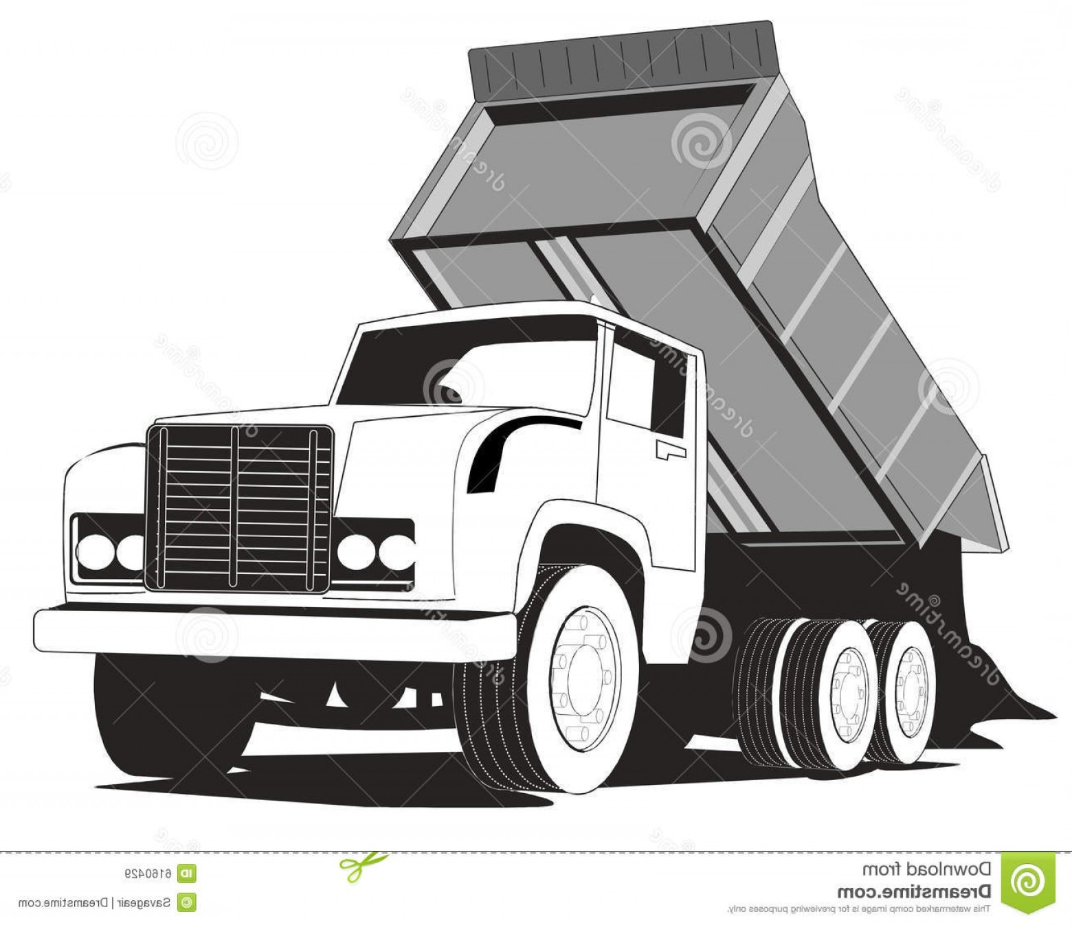 Dump Truck Vector Black And White: Royalty Free Stock Images Simple Dump Truck Image