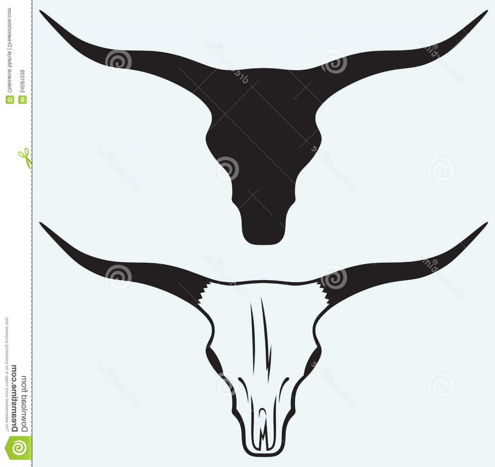 Cow Skull Vector Clip Art: Royalty Free Stock Images Skull Bull Isolated Blue Background Image