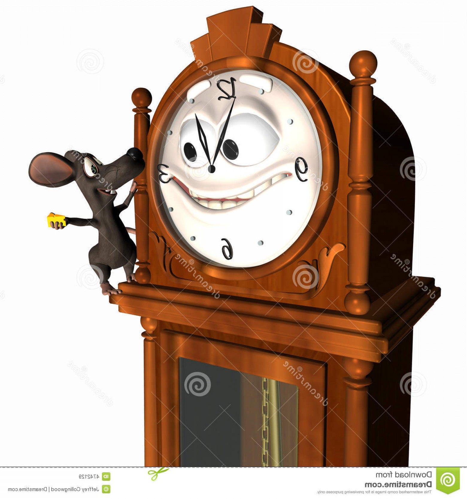 Old Floor Clock Vector: Royalty Free Stock Images Smiley Grandfather Clock Mouse Image