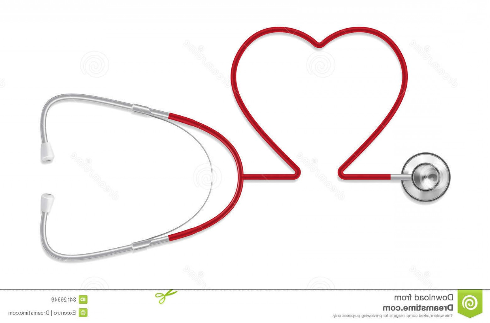Stethoscope With Heart Vector Art: Royalty Free Stock Images Stethoscope Heart Shaped Illustration Eps Image