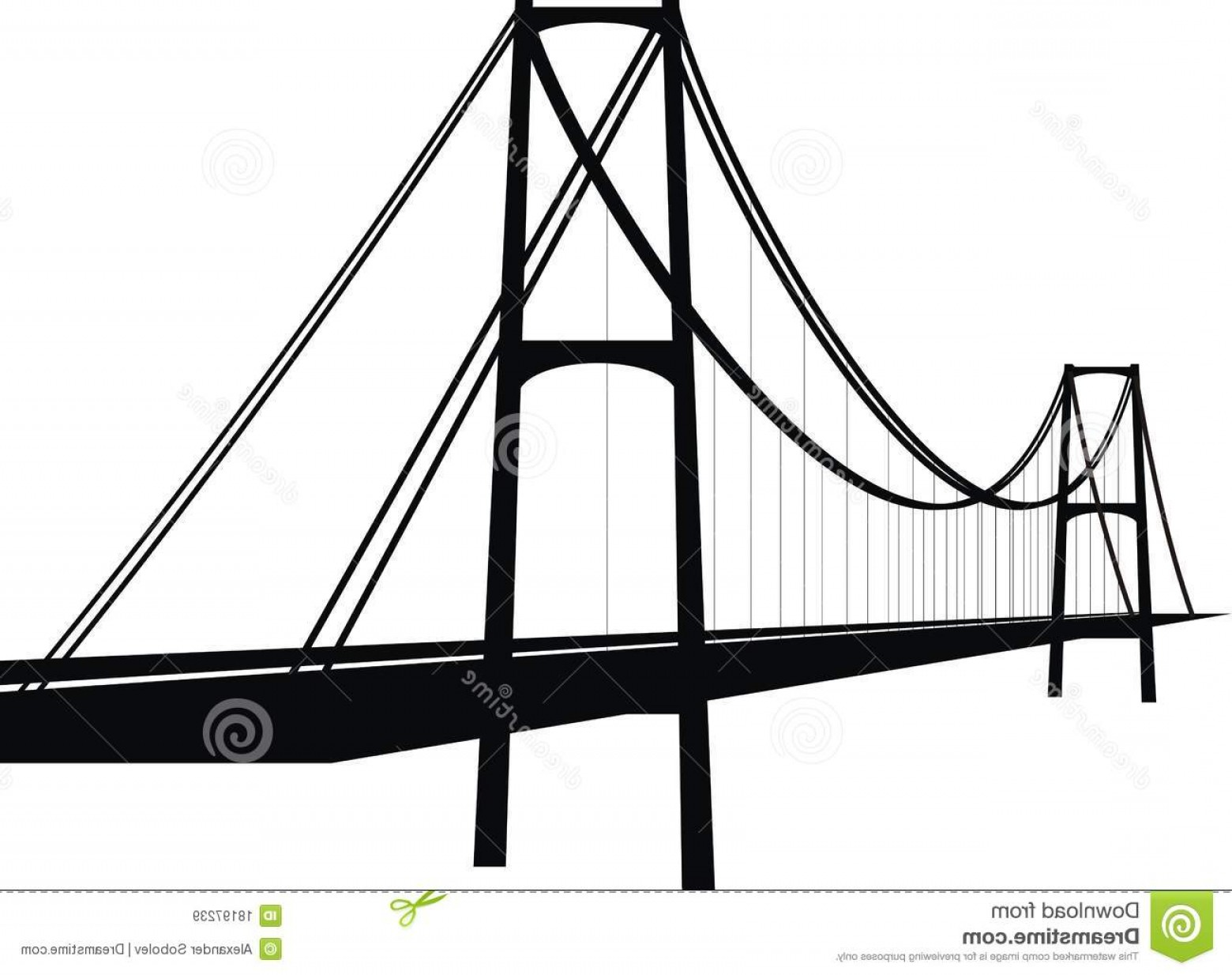 Suspension Bridge Vector: Royalty Free Stock Images Suspension Cable Bridge Image