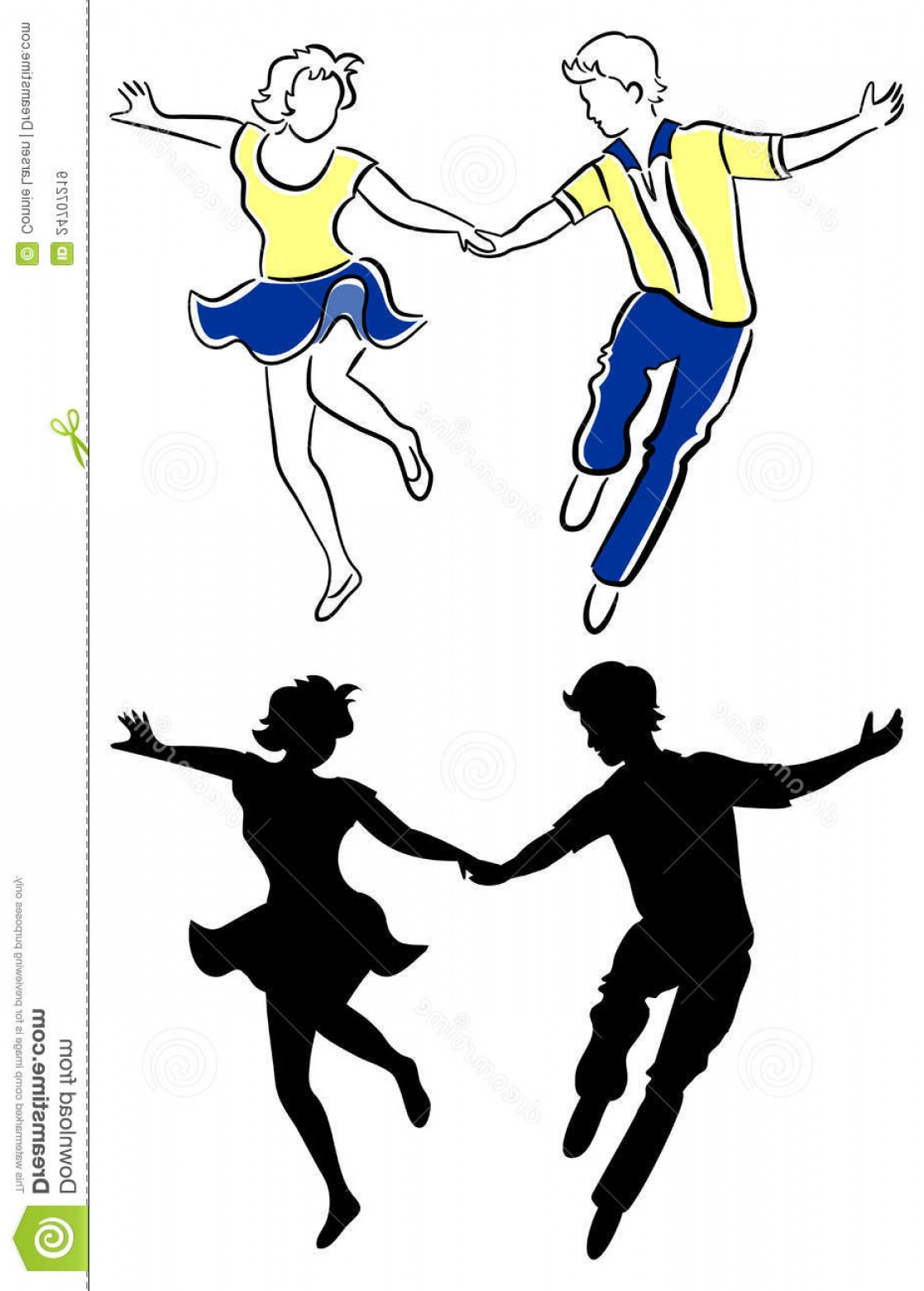 Vector Swing Dancers: Royalty Free Stock Images Swing Dance Couple Eps Image