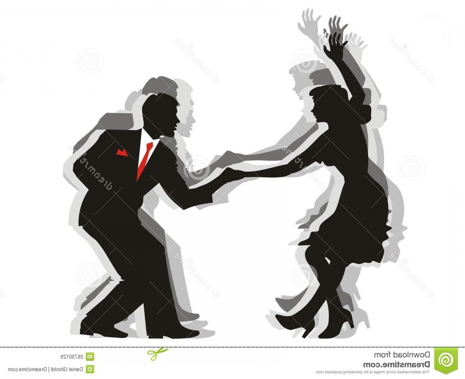 Vector Swing Dancers: Royalty Free Stock Images Swing Dance Couple Image