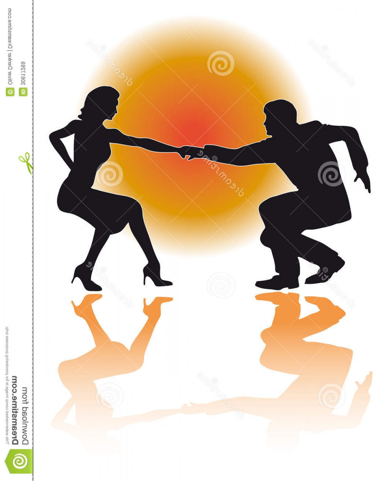 Vector Swing Dancers: Royalty Free Stock Images Swing Dancing Couple Vector Silhouette Illustration Eps Version Dance Poses Variations Image