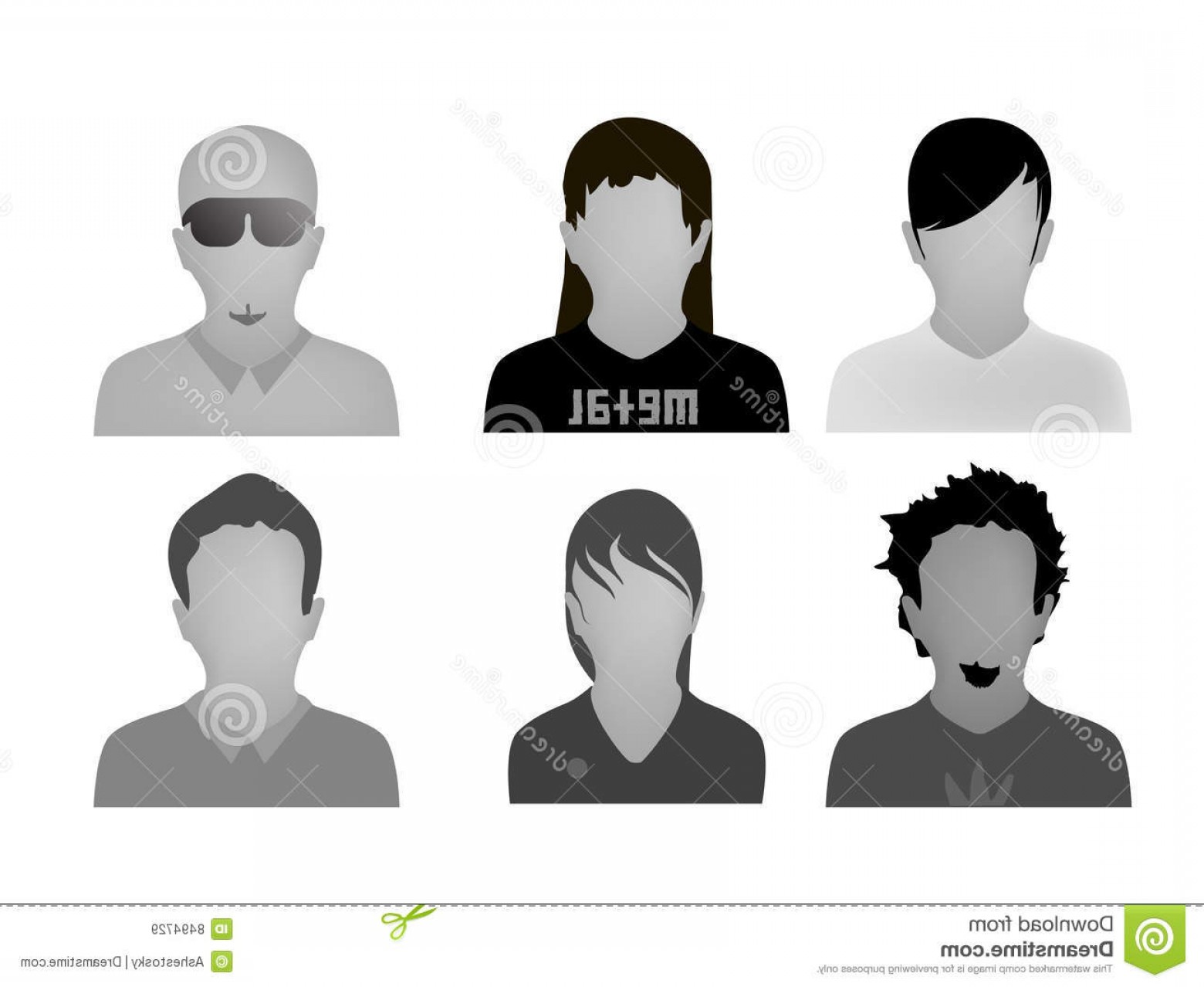 Teenage Icons Vector: Royalty Free Stock Images Teenage Styles Web Avatars Vector Image