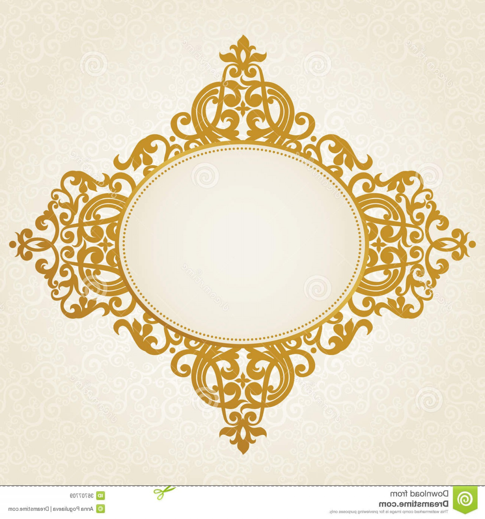 Victorian Style Frame Vector: Royalty Free Stock Images Vector Baroque Frame Victorian Style Element Design You Can Place Text Empty Can Be Used Decorating Image
