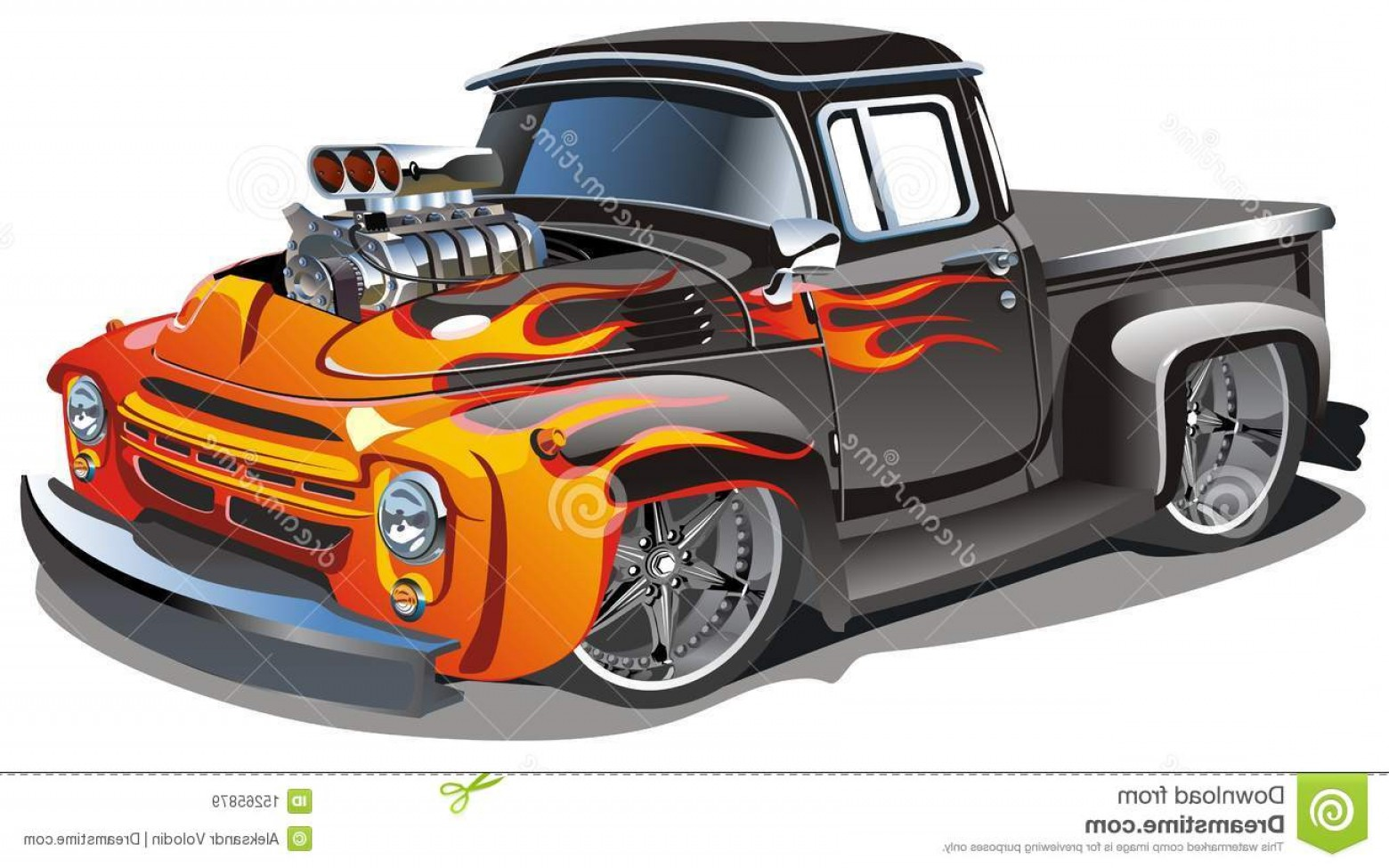 Vector Hot Rod Engines: Royalty Free Stock Images Vector Cartoon Hot Rod Image