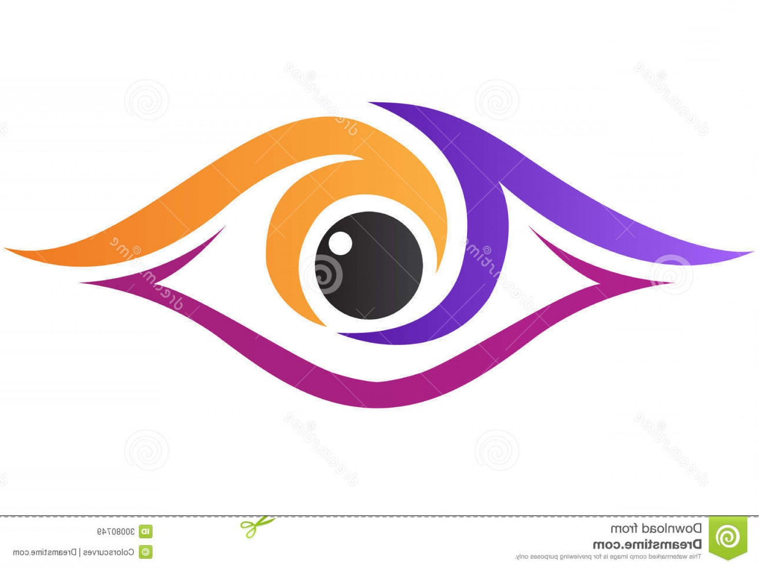Eye Vector Logo: Royalty Free Stock Images Vector Drawing Represents Eye Clinic Logo Design Image
