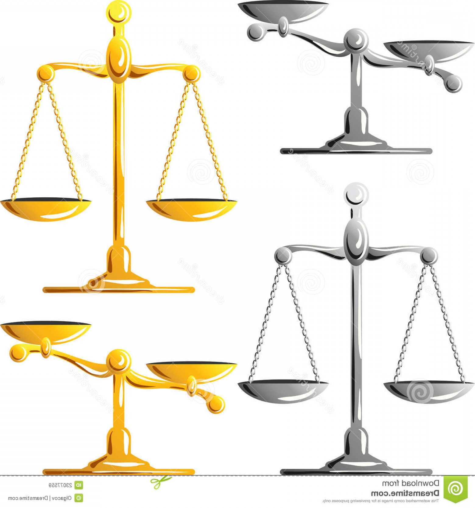 Scales Of Justice Vector: Royalty Free Stock Images Vector Gold Silver Scales Justice Image