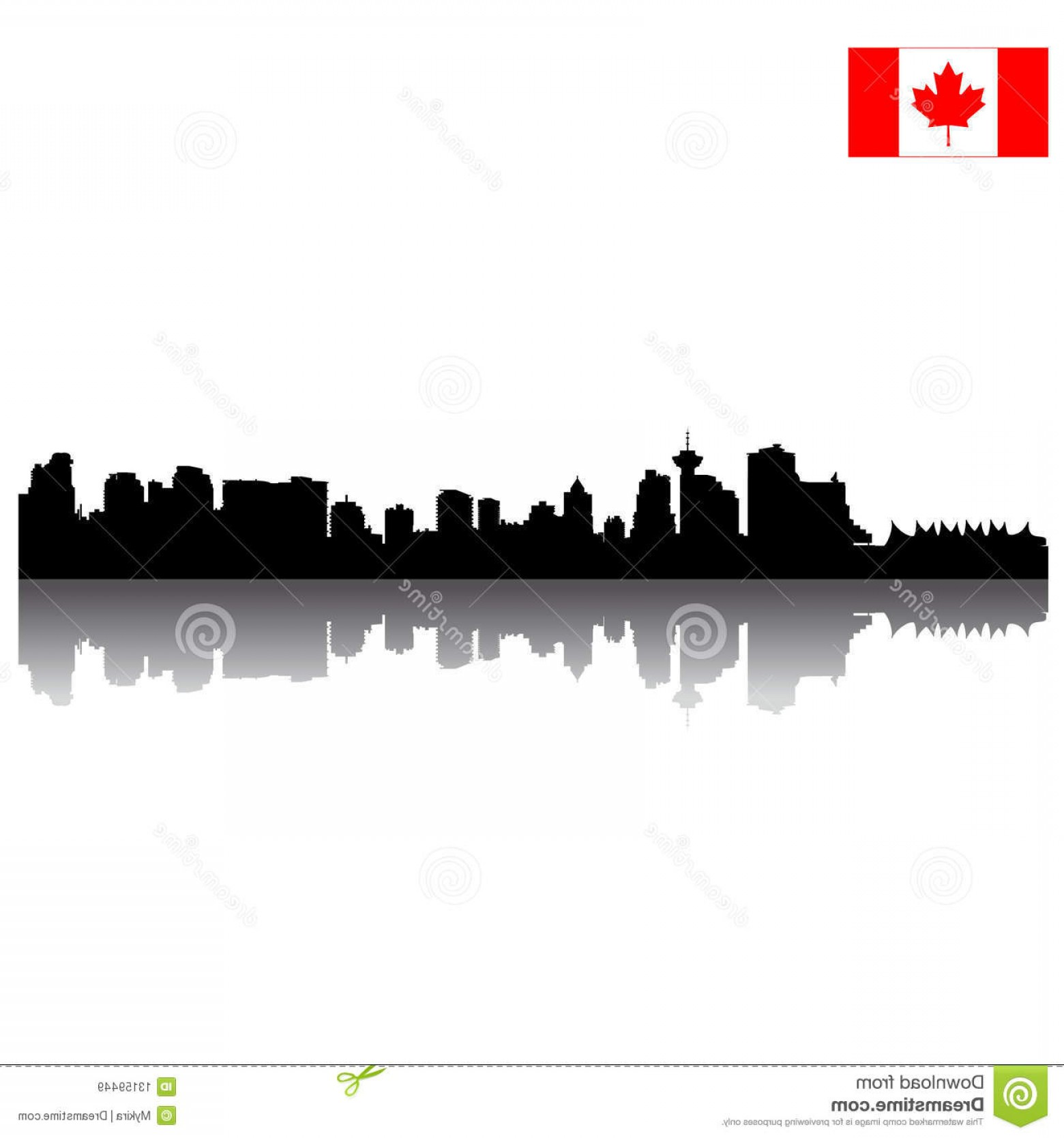Vancouver Skyline Vector: Royalty Free Stock Images Vector Vancouver Silhouette Skyline Canadian Image