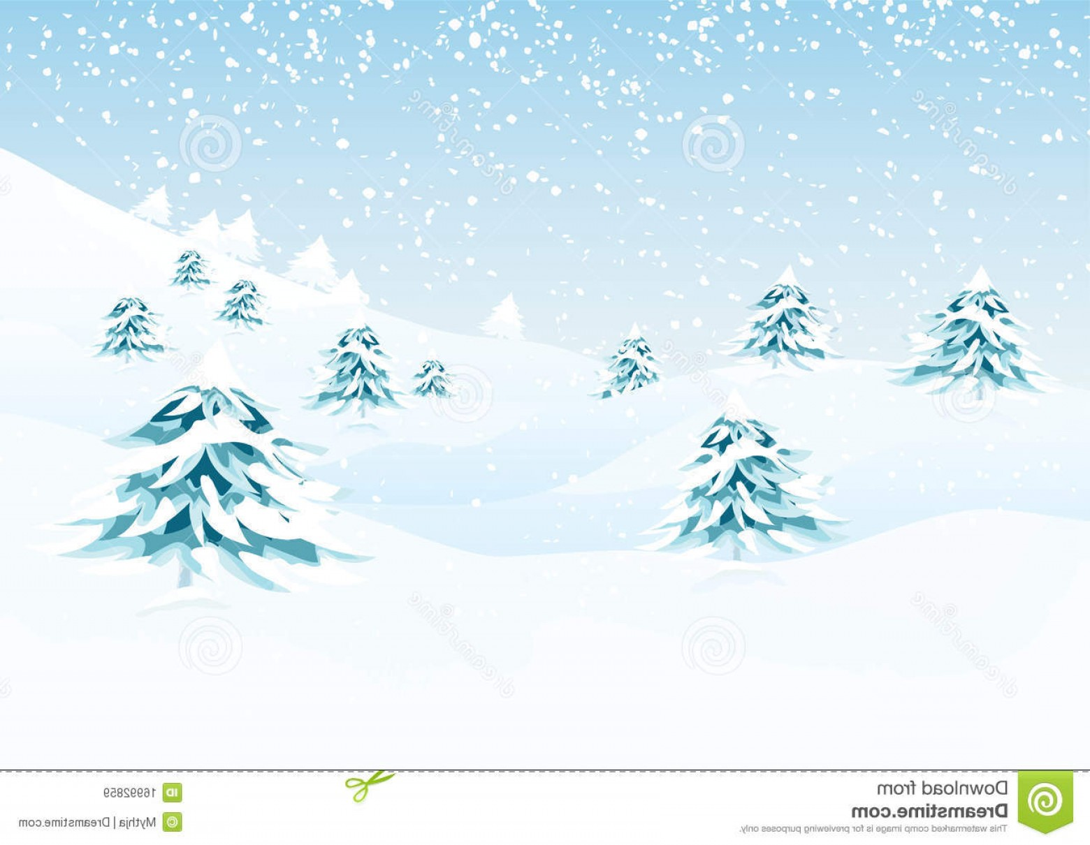 Free Winter Vector: Royalty Free Stock Images Vector Winter Landscape Image
