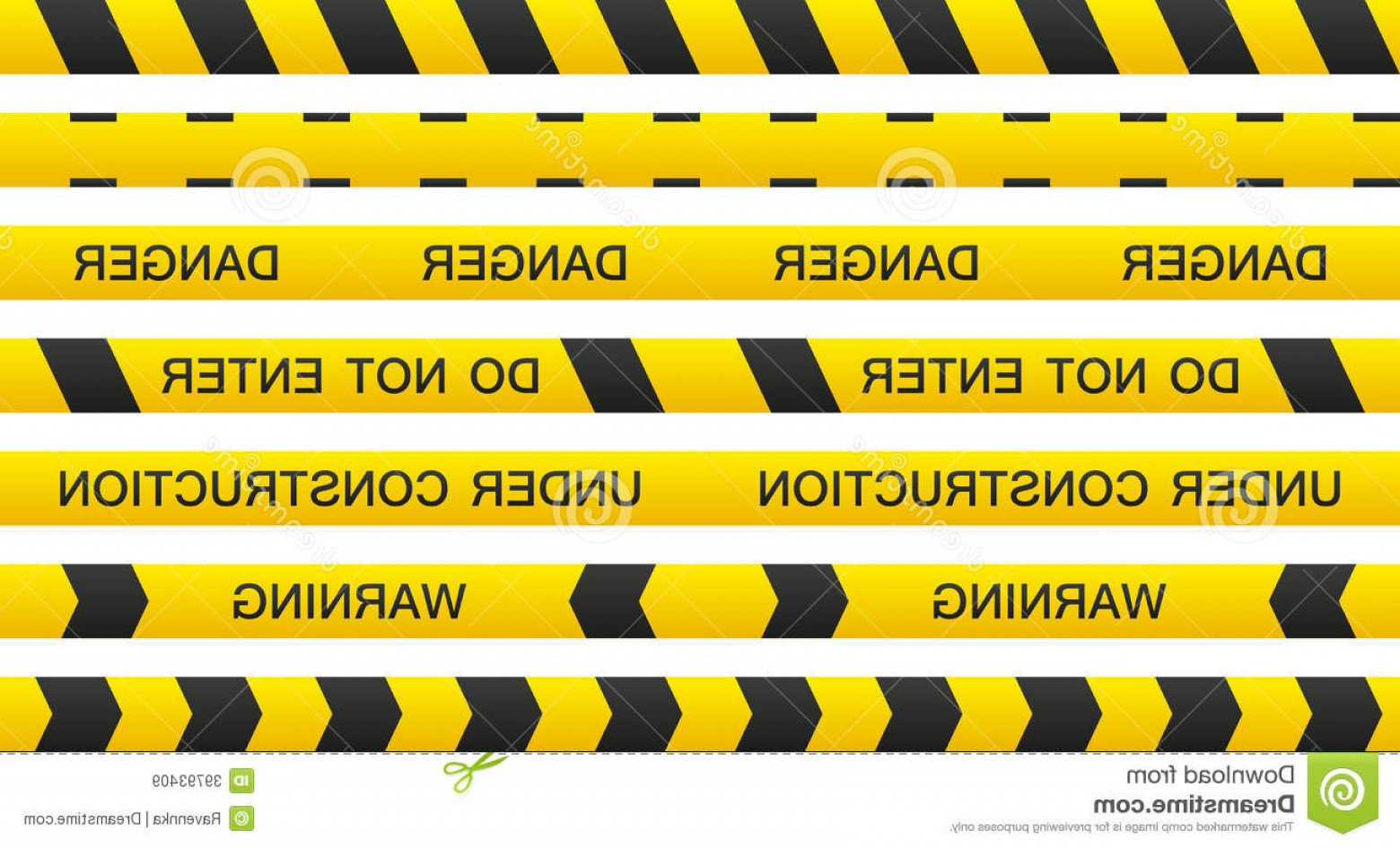 Caution Stripes Vector: Royalty Free Stock Images Warning Tape Set Isolated Seamless Tapes Text Image
