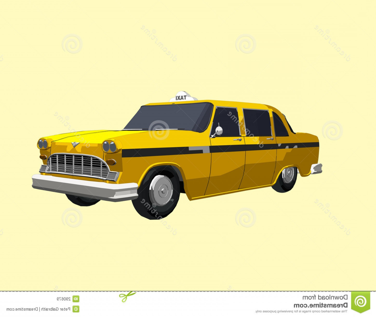 New York Taxi Cab Vector: Royalty Free Stock Images Yellow Cab Image