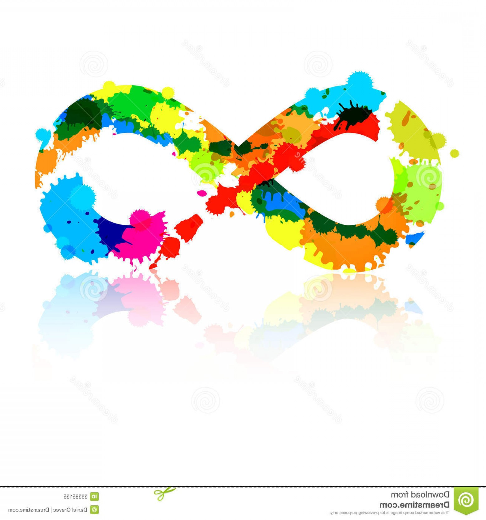 Decorative Infinity Symbol Vector: Royalty Free Stock Photo Abstract Vector Colorful Infinity Symbol Made Splashes Blots Image