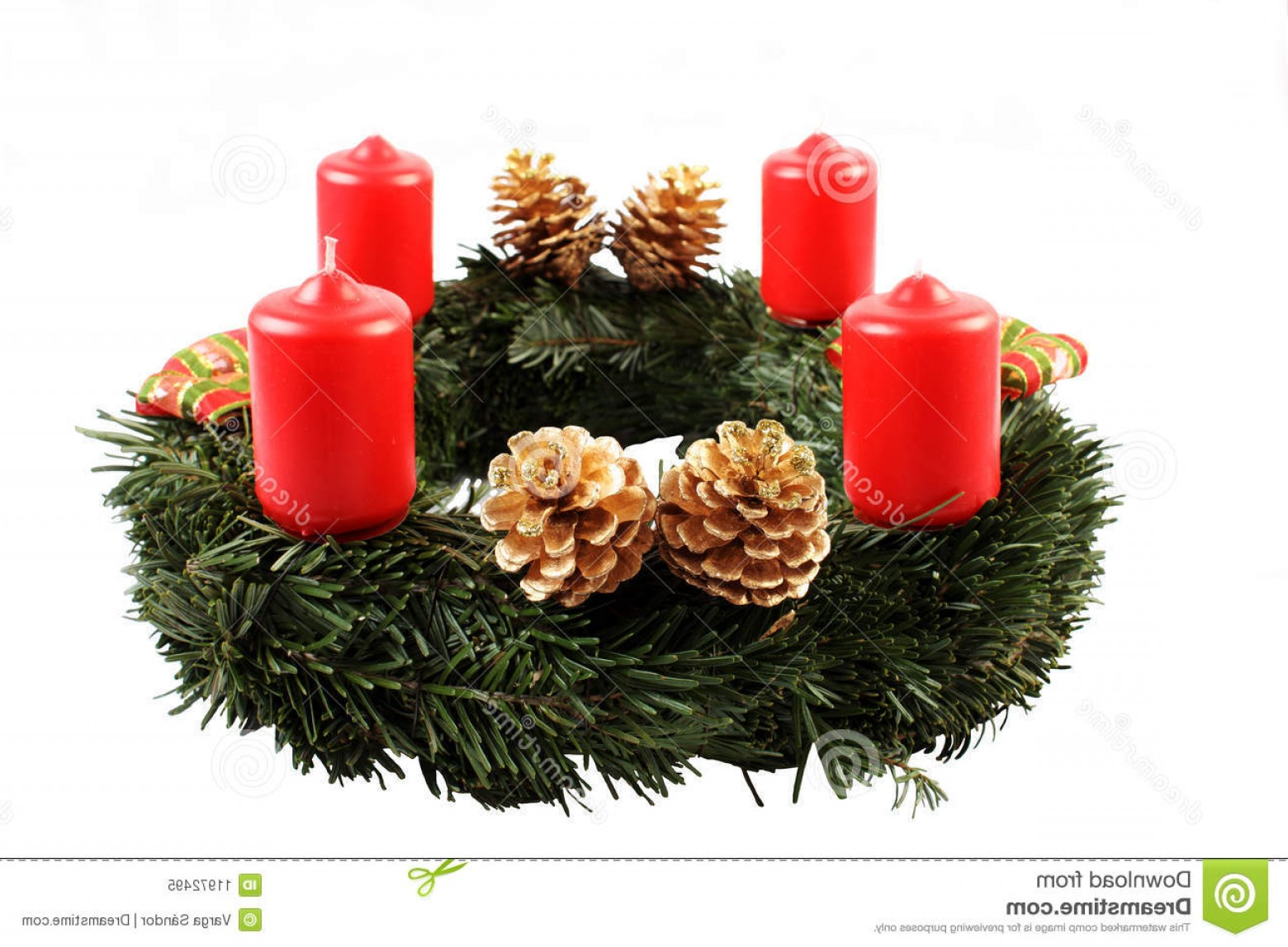Advent Wreath Vector: Royalty Free Stock Photo Advent Wreath Image