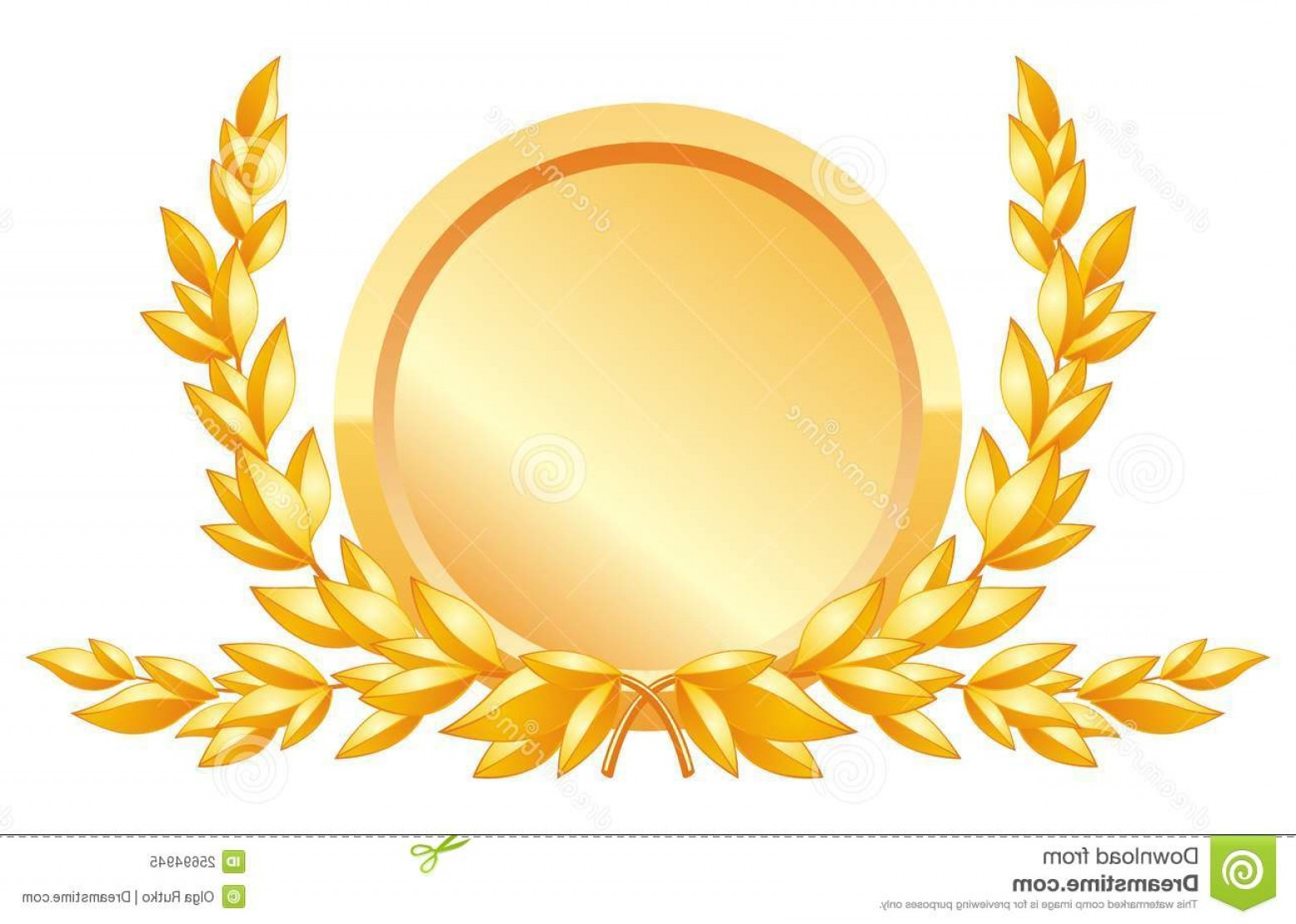 Award Vector Leaves: Royalty Free Stock Photo Award Decoration Image