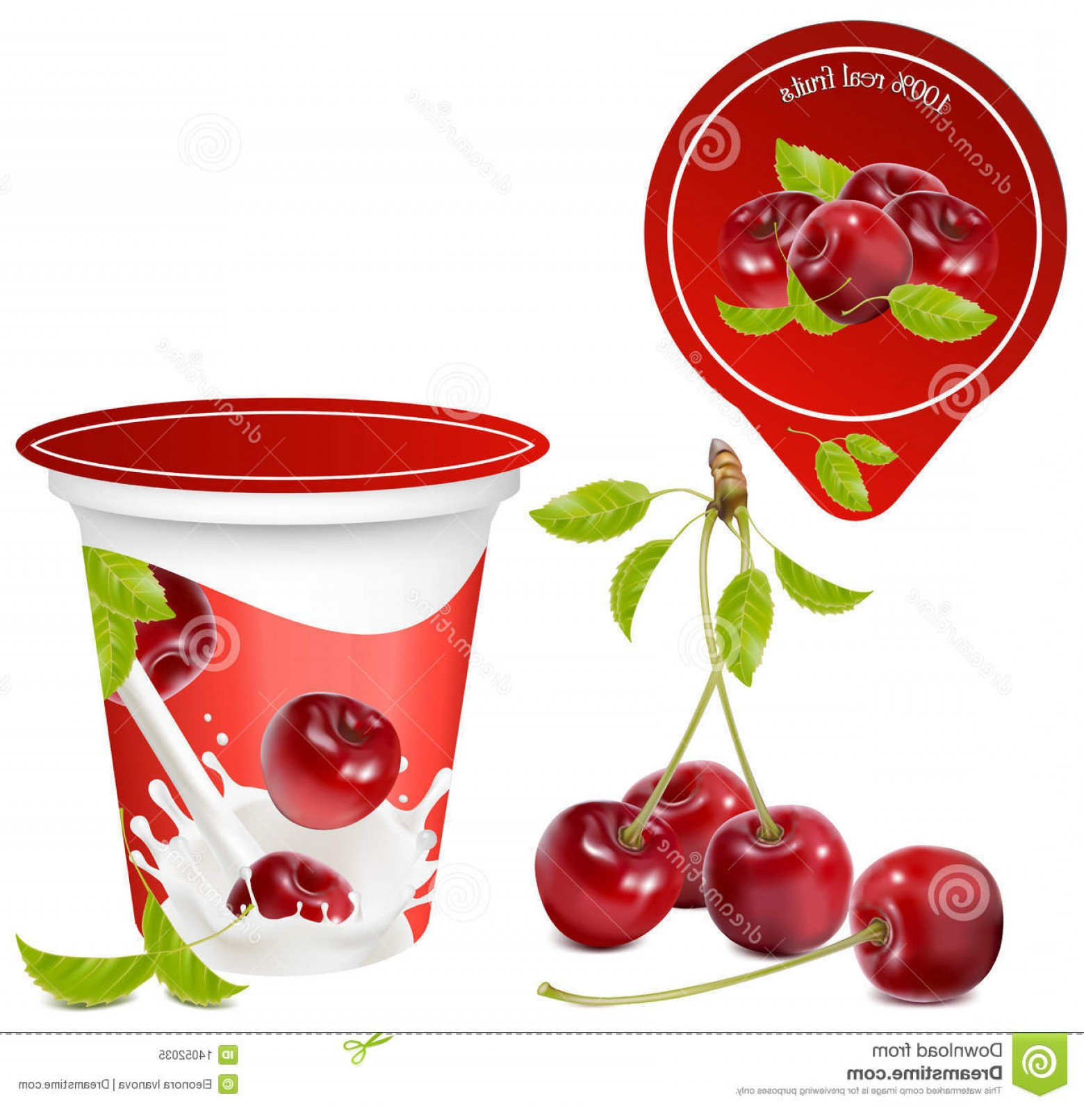 Yogurt Vector: Royalty Free Stock Photo Background Design Packing Yogurt Image
