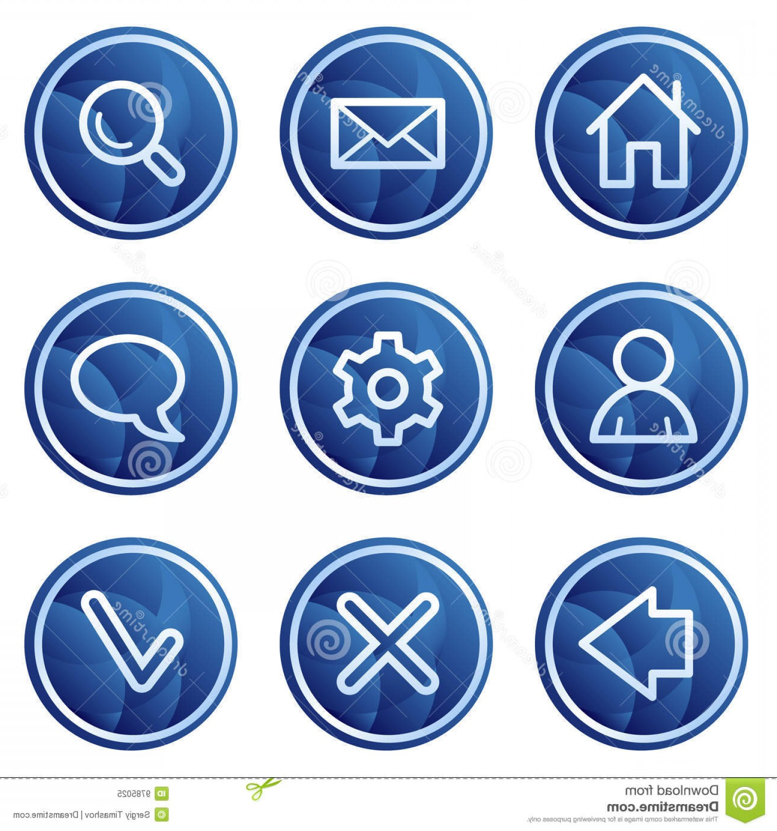 Contact Button Icons Vector Free: Royalty Free Stock Photo Basic Web Icons Blue Circle Buttons Series Image