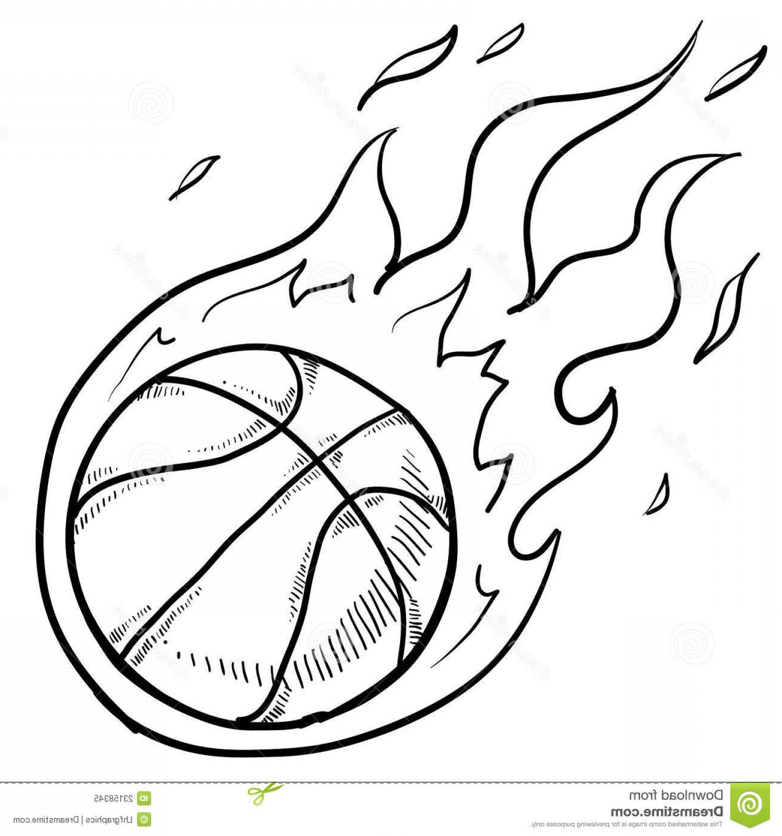 Color Basketball Outline Vector: Royalty Free Stock Photo Basketball Playoffs Sketch Image