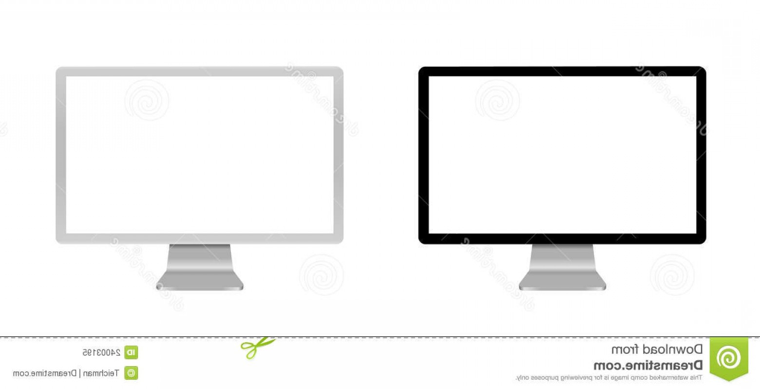 Vector Monitors Mac: Royalty Free Stock Photo Blank Monitor Image