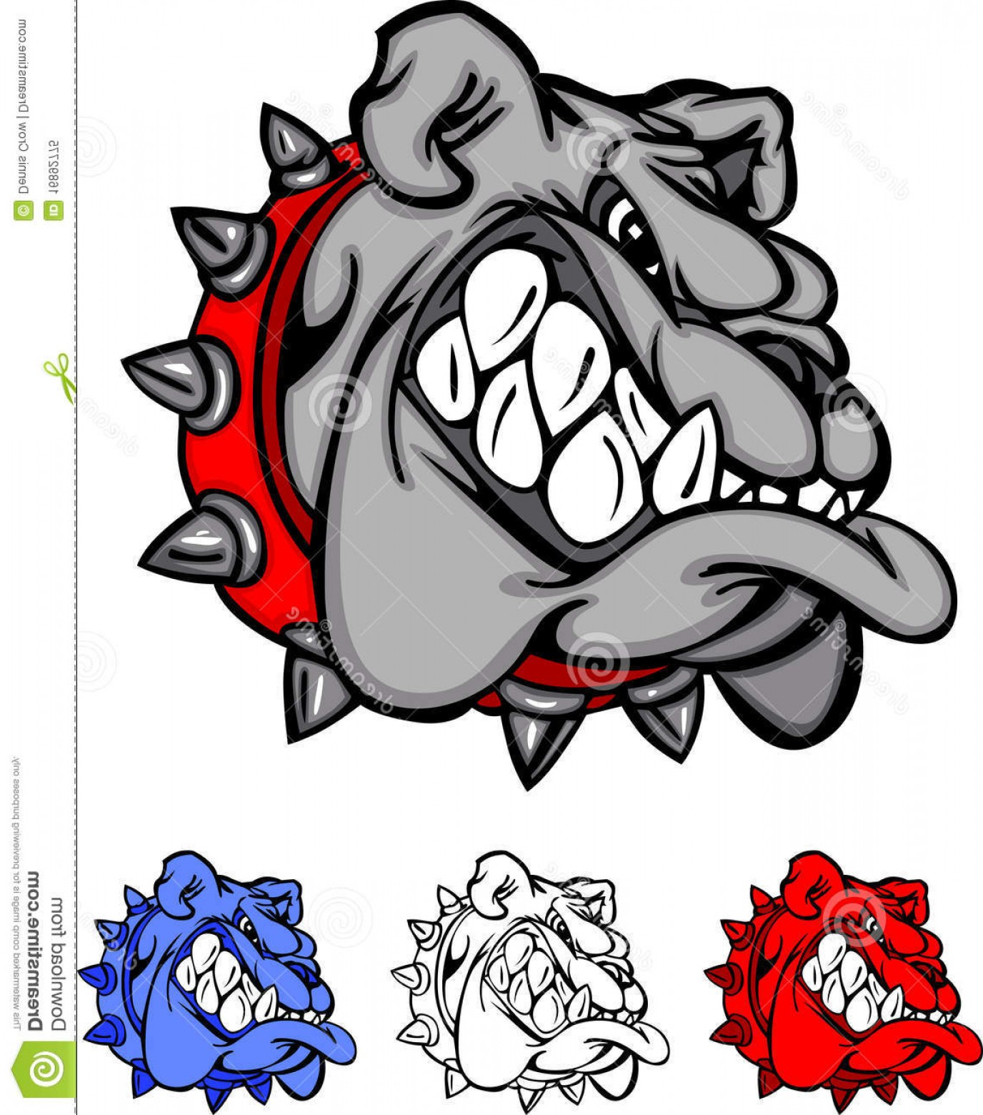 Bulldog Vector Art: Royalty Free Stock Photo Bulldog Team Mascot Vector Logo Image