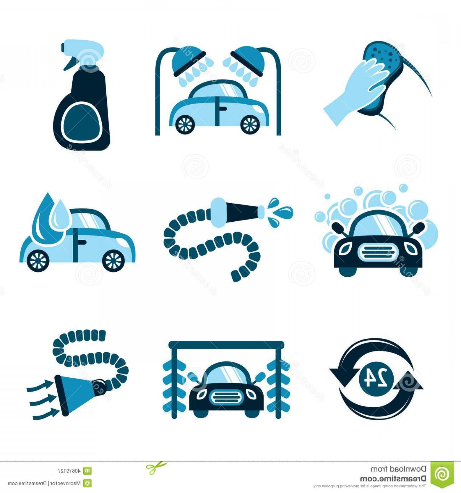 Car Wash Vector Graphics: Royalty Free Stock Photo Car Wash Hand Hold Sponge Over Washing Vector Illustration Image