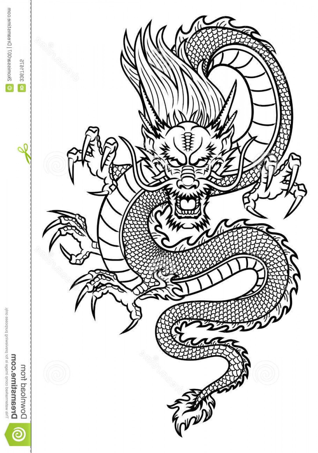 Oriental Dragon Vector: Royalty Free Stock Photo Chinese Dragon Traditional Asian Vector Illustration Ideal Mascot Tattoo T Shirt Graphic Image