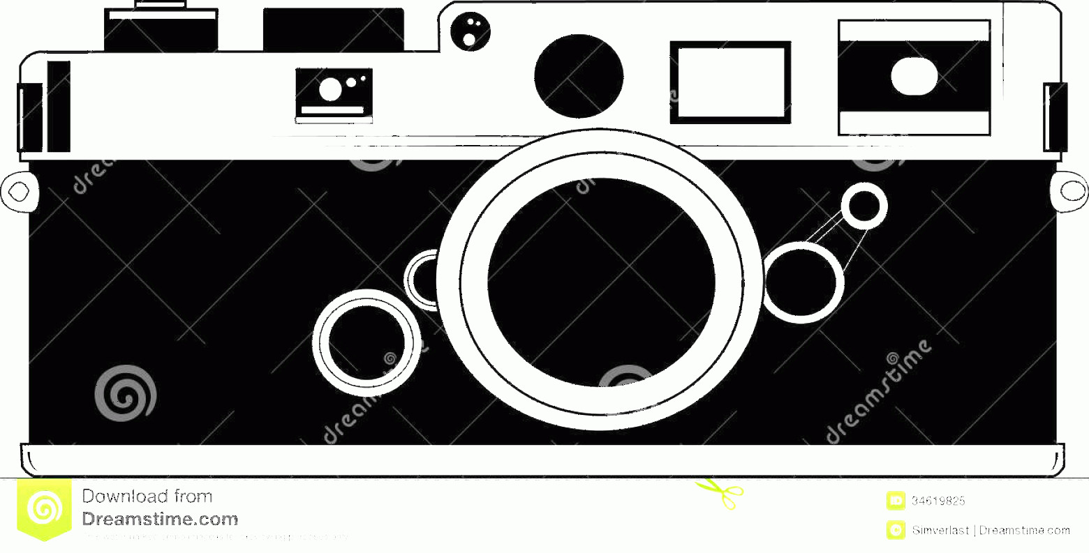 Classic Camera Vector: Royalty Free Stock Photo Classic Camera Vector Film Old Image