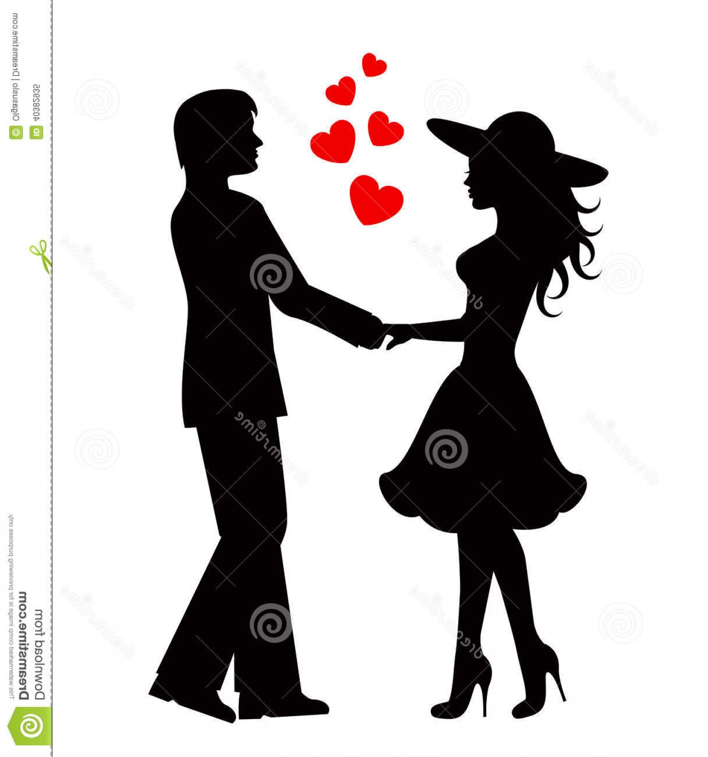 Vector Silhouette Love: Royalty Free Stock Photo Couple People Love Silhouettes Loving Black Against White Background Image