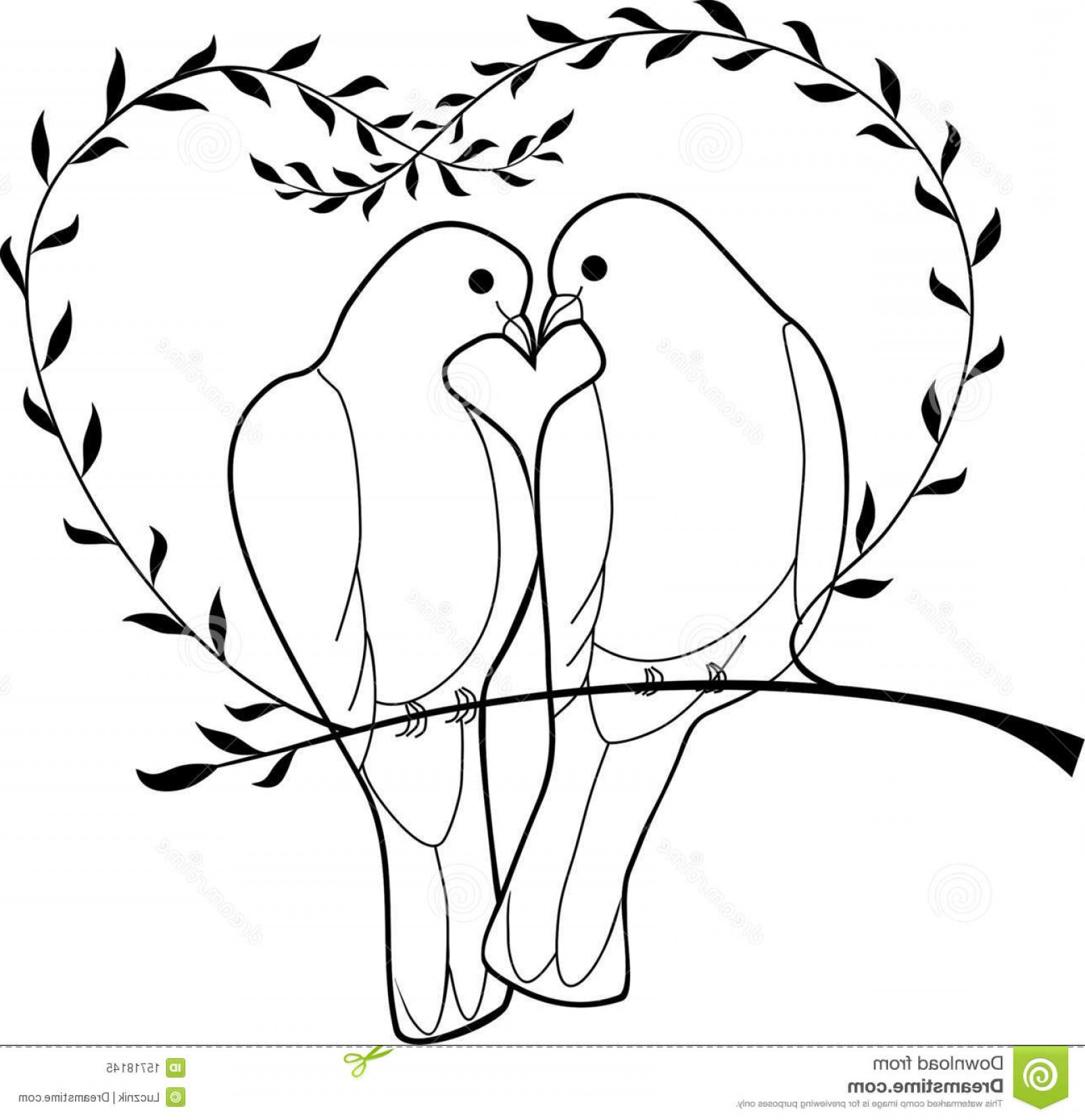 Vector Wedding Doves 2: Royalty Free Stock Photo Doves Image