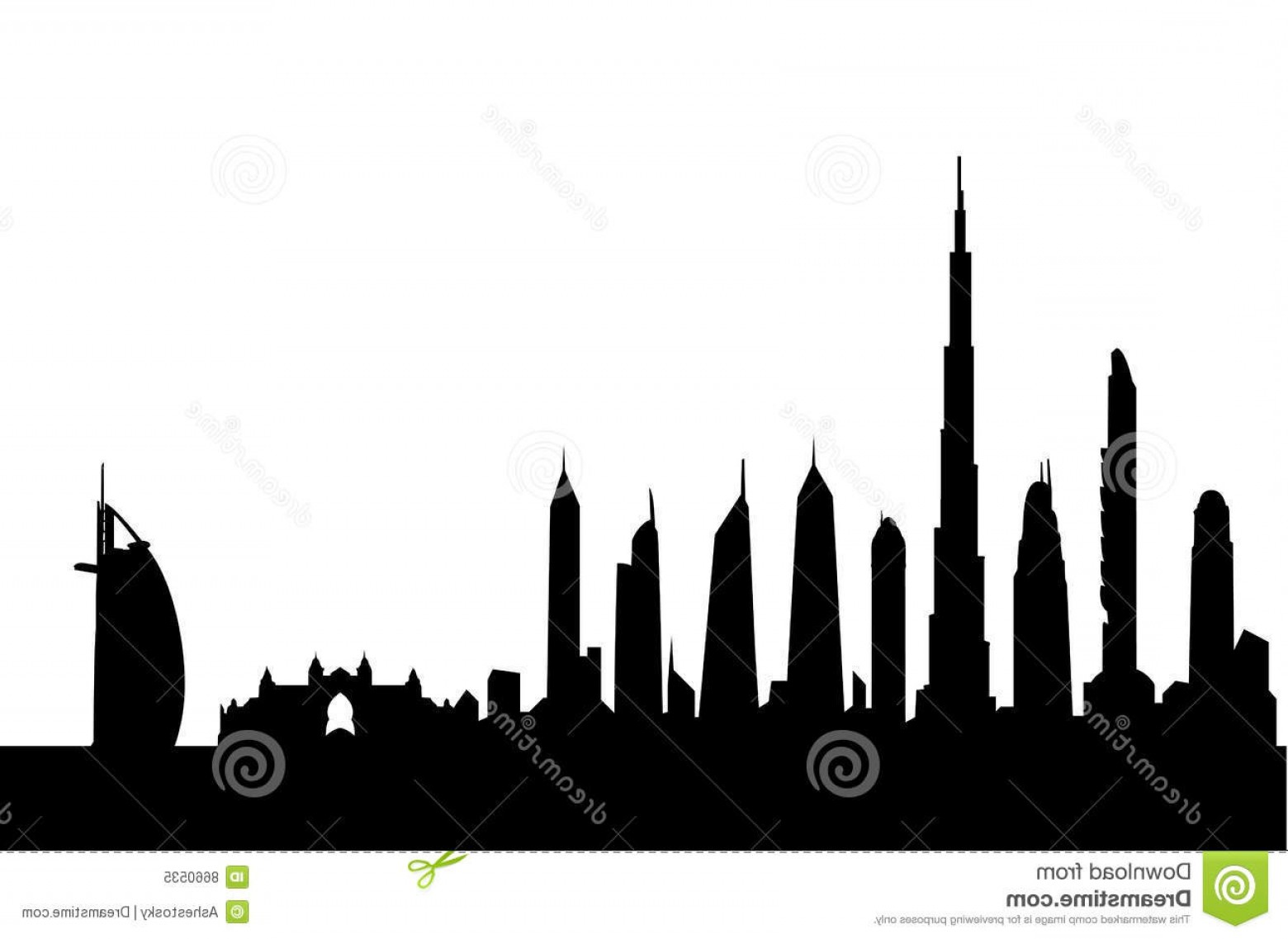 City Building Vector Free Download: Royalty Free Stock Photo Dubai Skyline Silhouette Vector Image