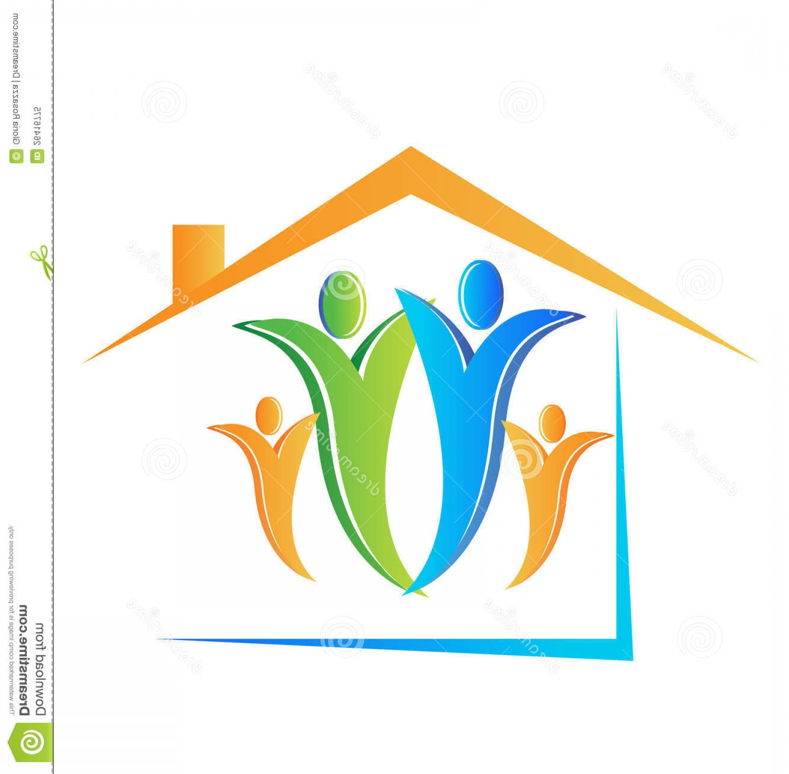 Home Logo Vector: Royalty Free Stock Photo Family House Logo Image