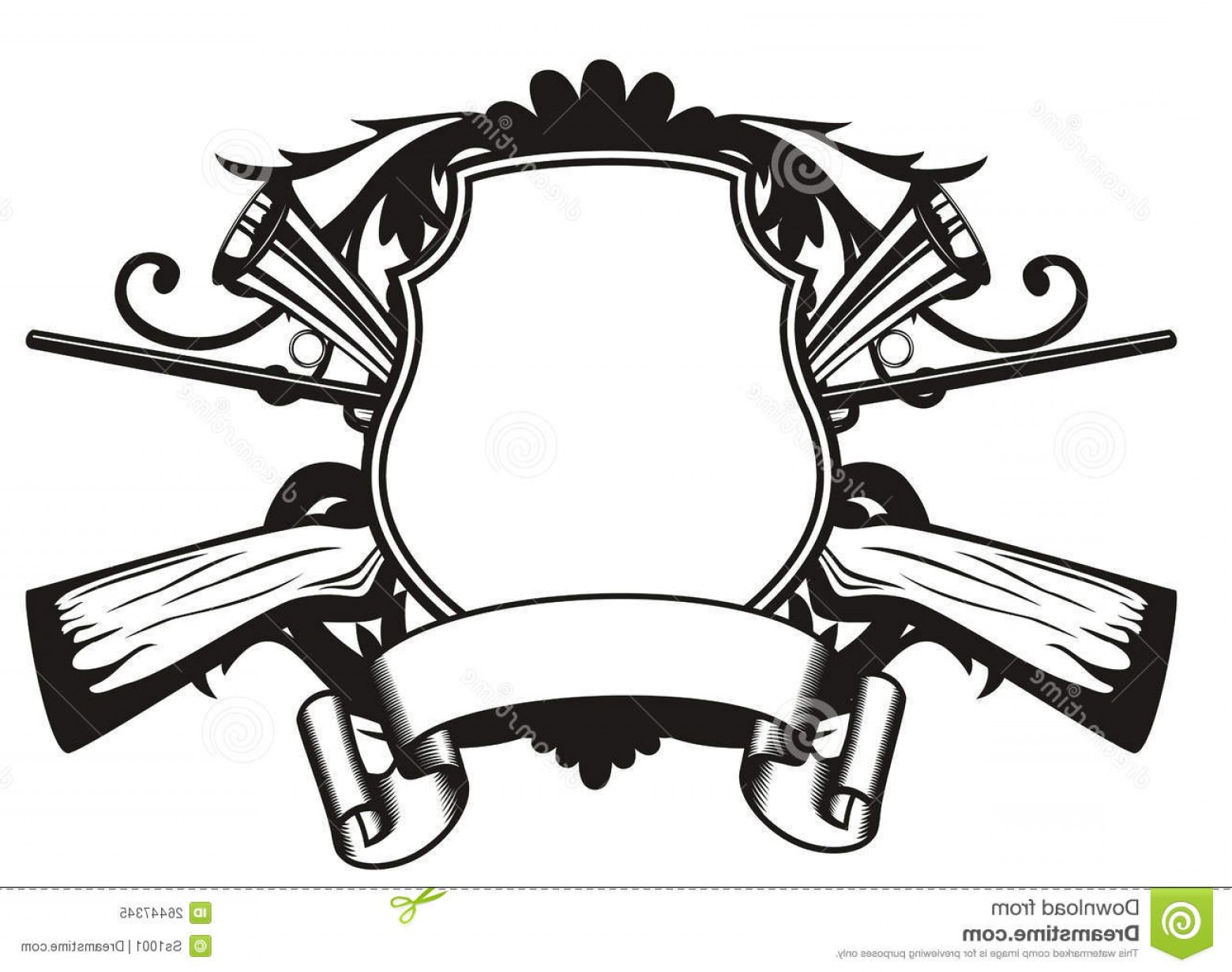 Vector Clip Art Hunting: Royalty Free Stock Photo Frame Hunting Theme Image