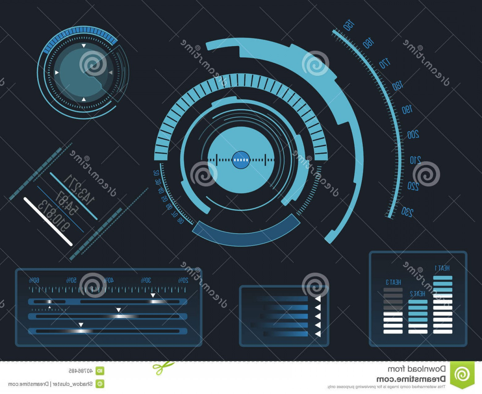 Futuristic Render Vector Graphics: Royalty Free Stock Photo Futuristic User Interface Hud Blue Virtual Graphic Touch Image