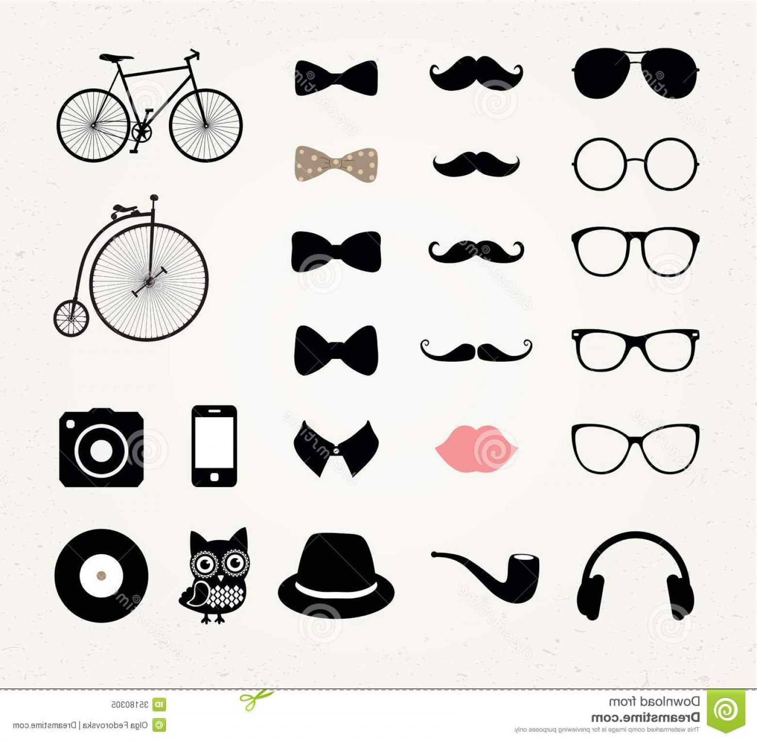 Free Vector Hipster: Royalty Free Stock Photo Hipster Retro Vintage Icon Set Vector Image