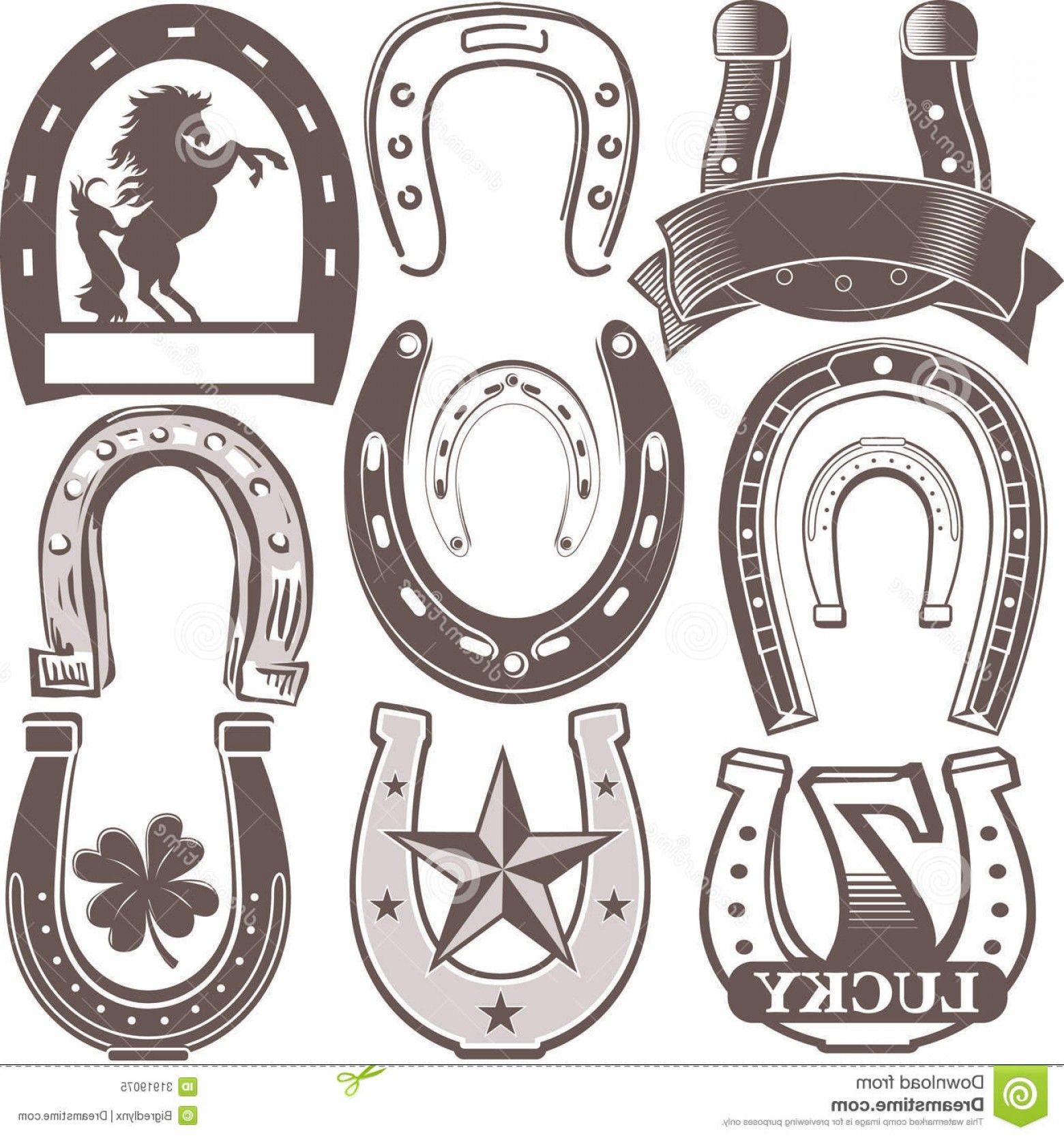 Tribal Vector Horseshoe Image: Royalty Free Stock Photo Horseshoe Collection Clip Art Symbols Icons Image