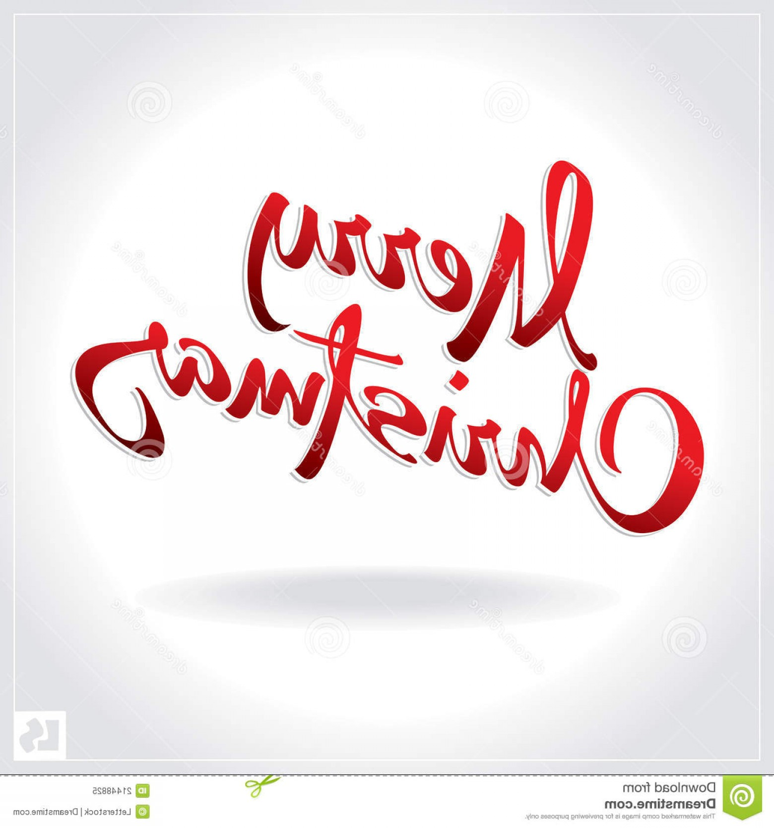 Merry Christmas Vector Graphic: Royalty Free Stock Photo Merry Christmas Hand Lettering Vector Image