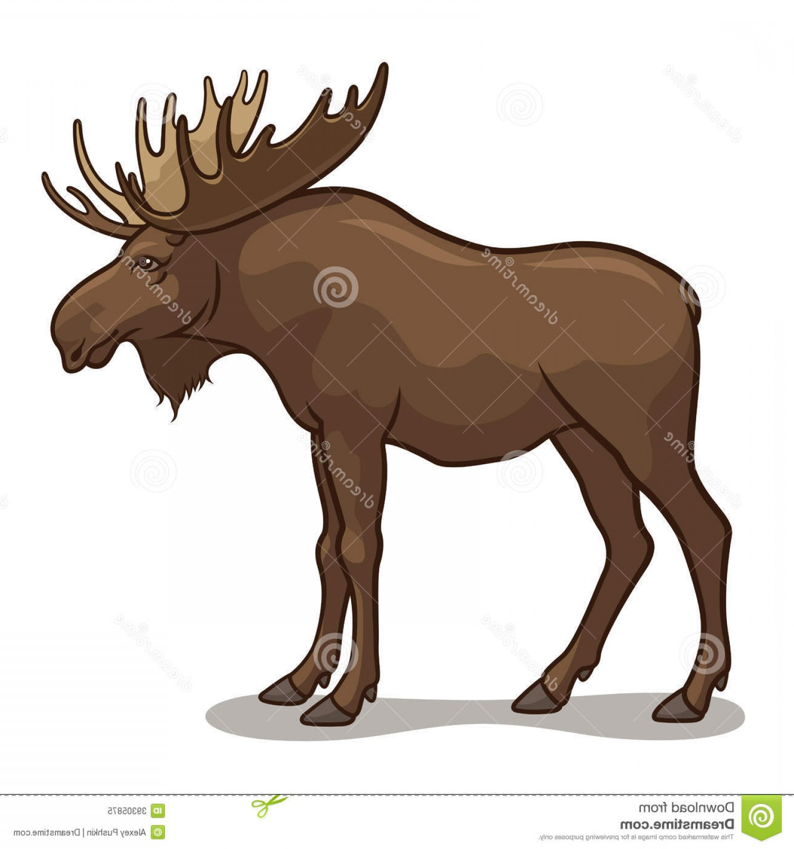 Alaska Moose Vectors: Royalty Free Stock Photo Moose Vector Illustration Isolated White Background Image