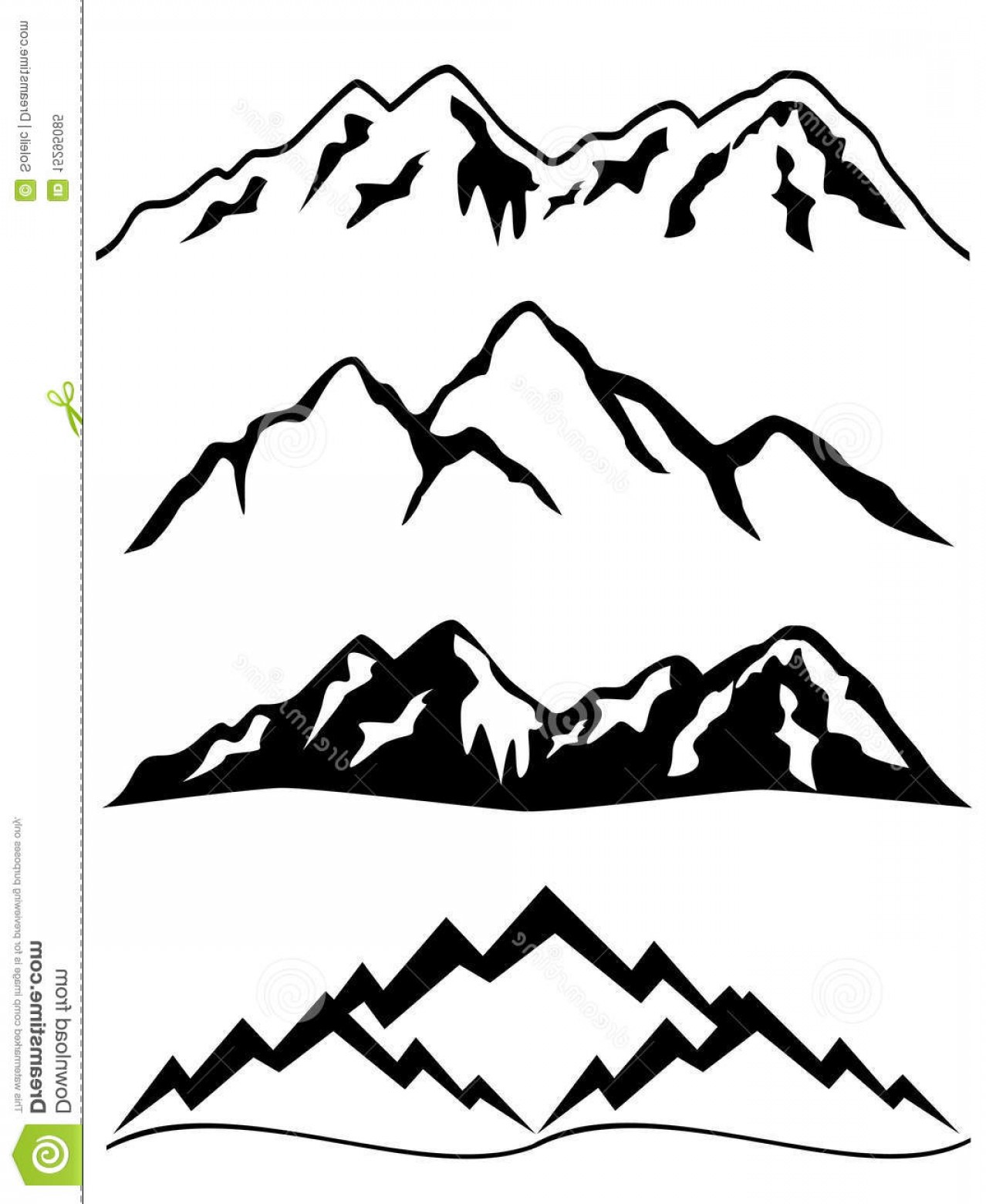 Snowy Mountain Vector Graphics: Royalty Free Stock Photo Mountains Snow Image