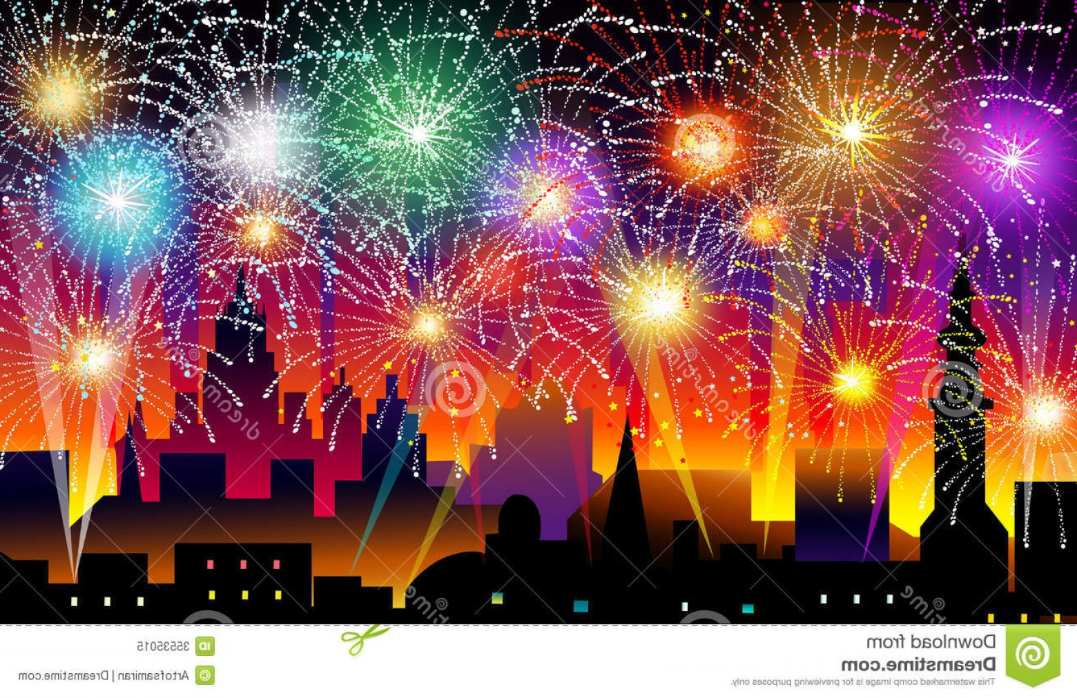Vector New Year's Eve: Royalty Free Stock Photo New Years Eve Vector Illustration Image