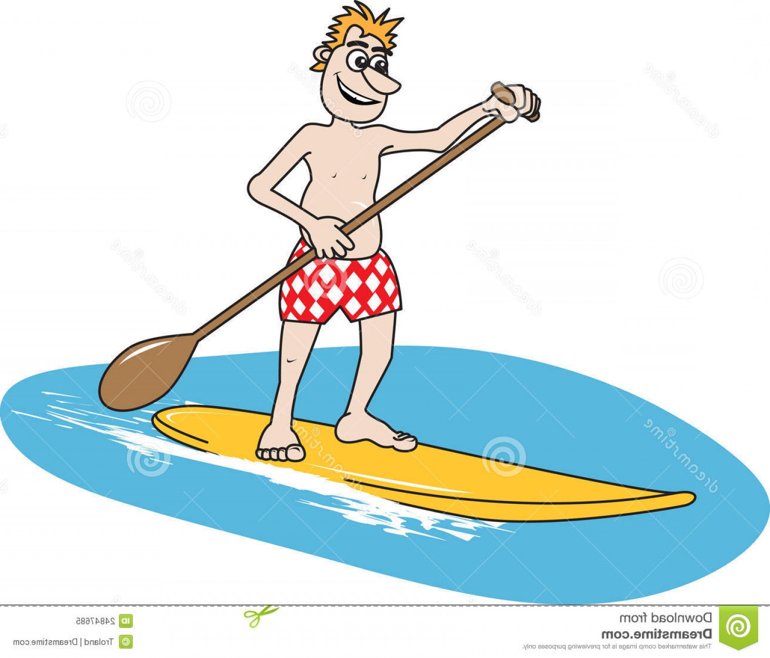 Stand Up Paddle Boarder Vector: Royalty Free Stock Photo Paddleboard Image