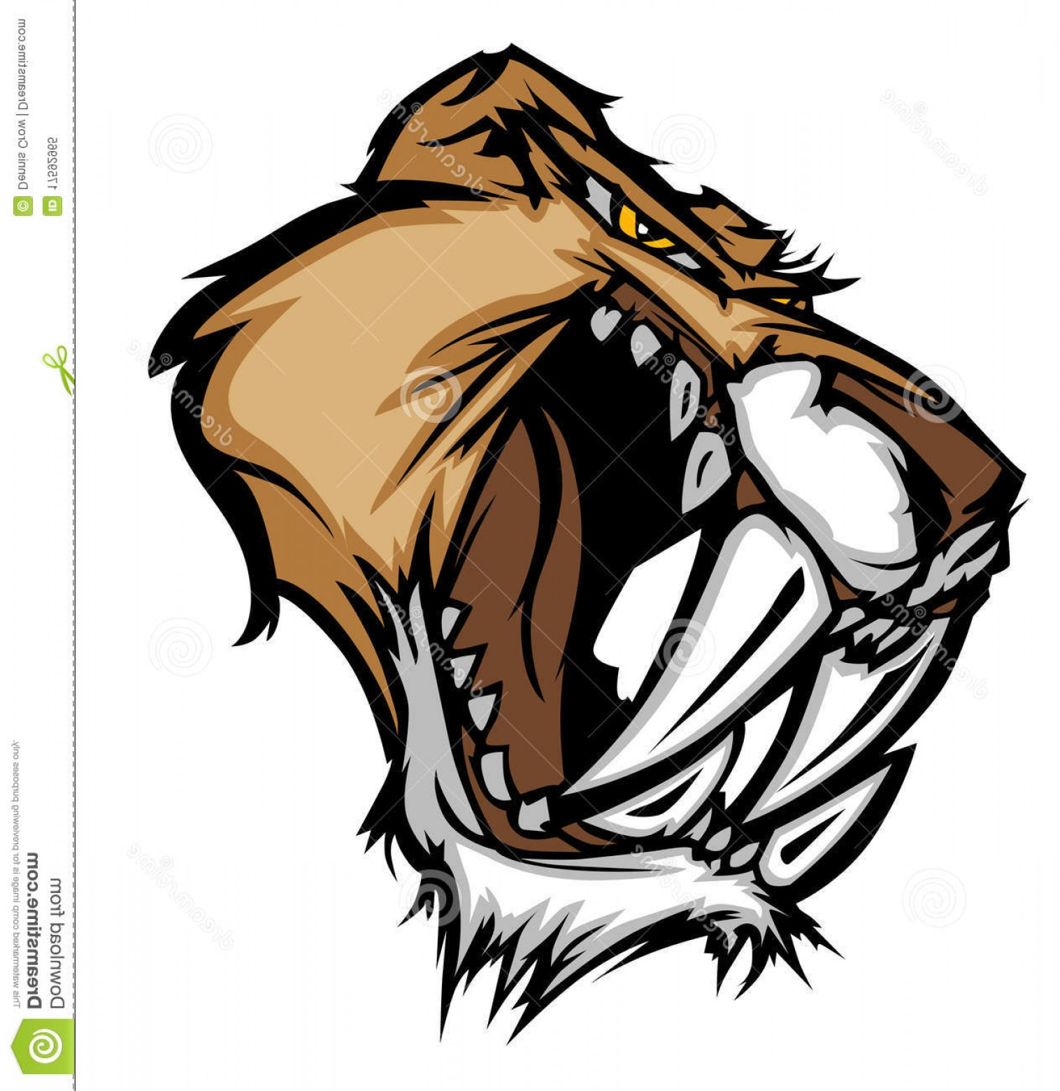 Cougar Logo Vector: Royalty Free Stock Photo Panther Cougar Mascot Vector Logo Image