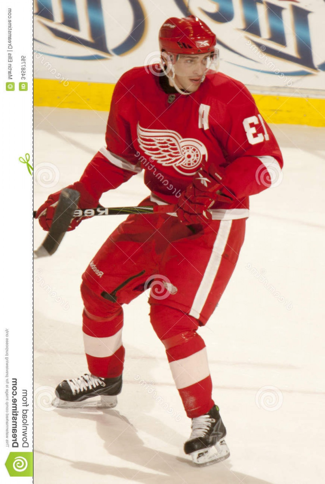 Detroit Red Wings Vector Art: Royalty Free Stock Photo Pavel Datsyuk Detroit Red Wings Watches Play Game Against Colorado Rockies Joe Louis Arena Image