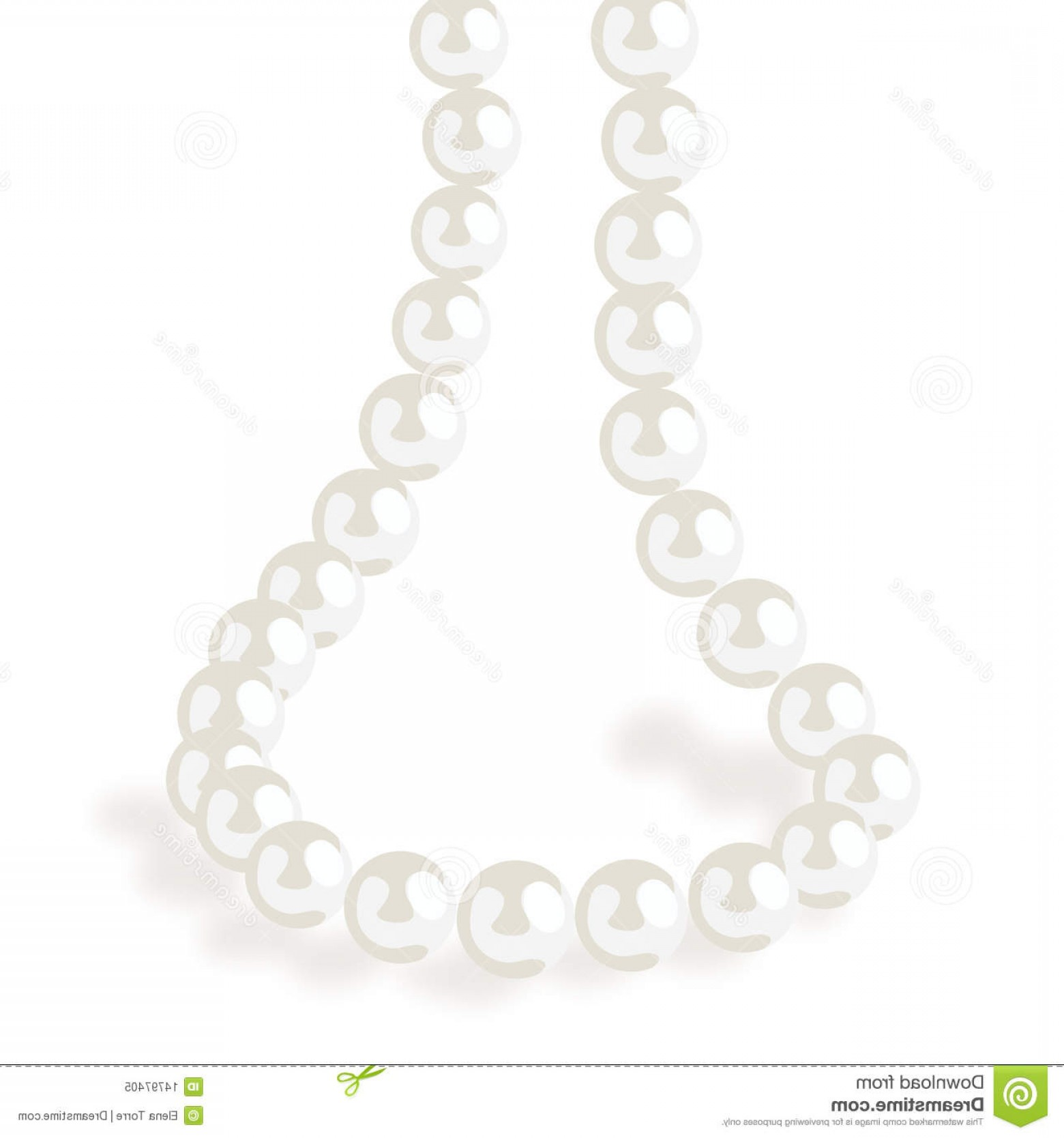 Pearl Necklace Vector Clip Art: Royalty Free Stock Photo Pearl Necklace Vector Eps File Image