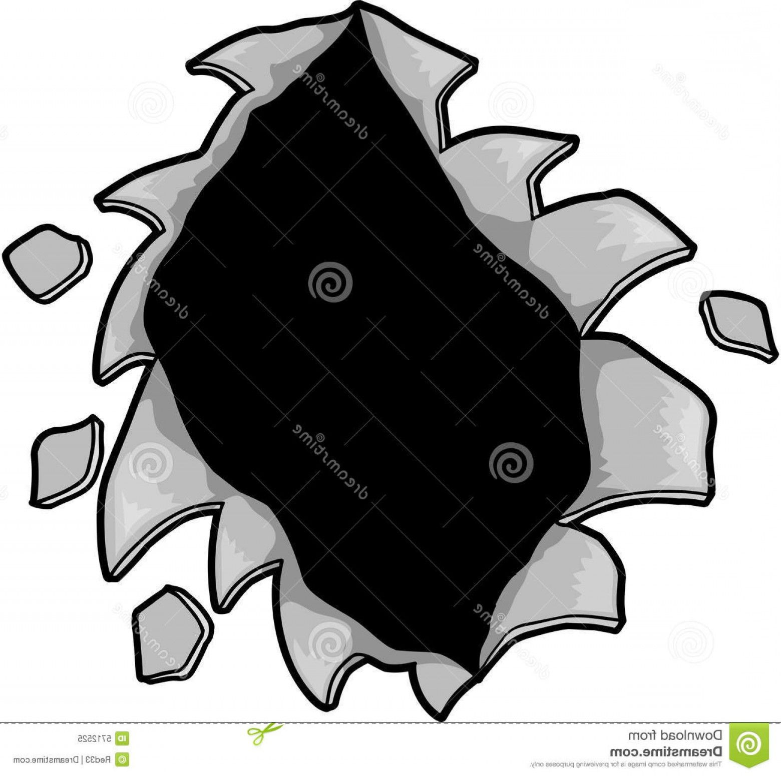 Rip Clip Art Vector: Royalty Free Stock Photo Ripped Hole Vector Image