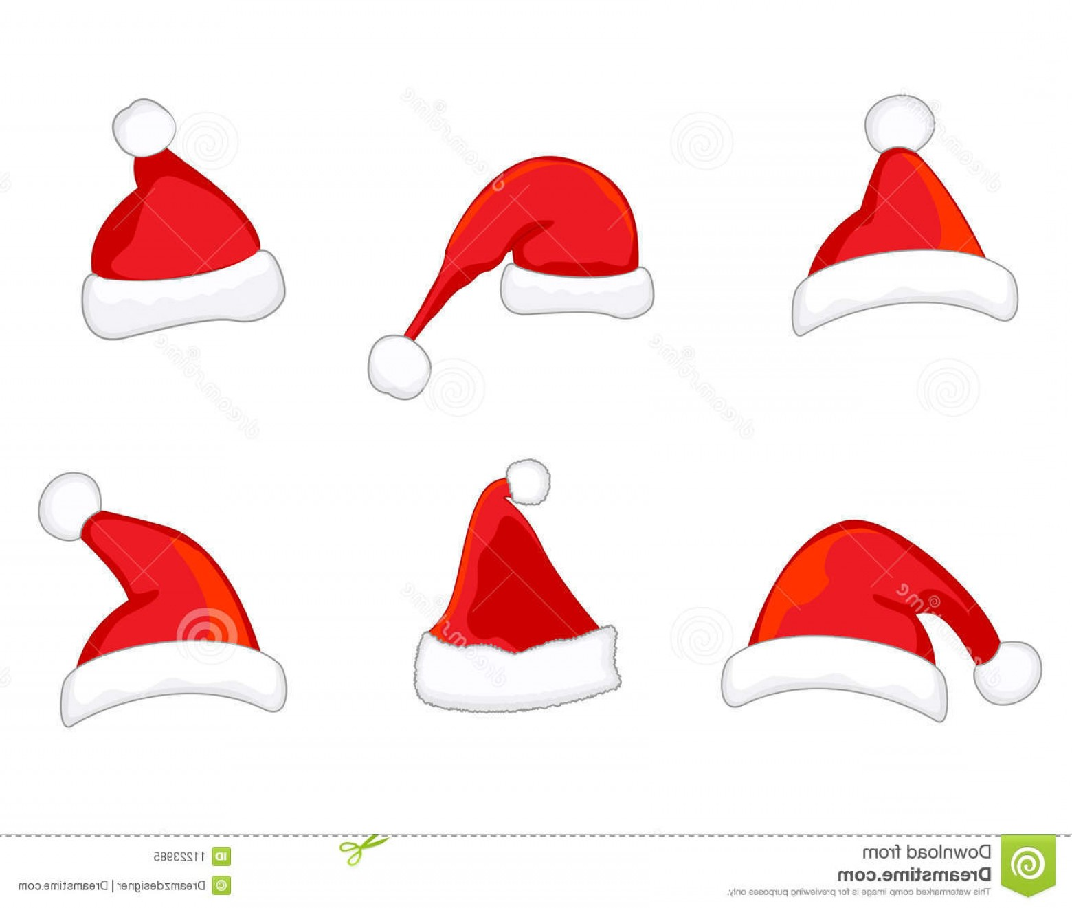 Santa Hat Vector Logo: Royalty Free Stock Photo Santa Hats Vector Image